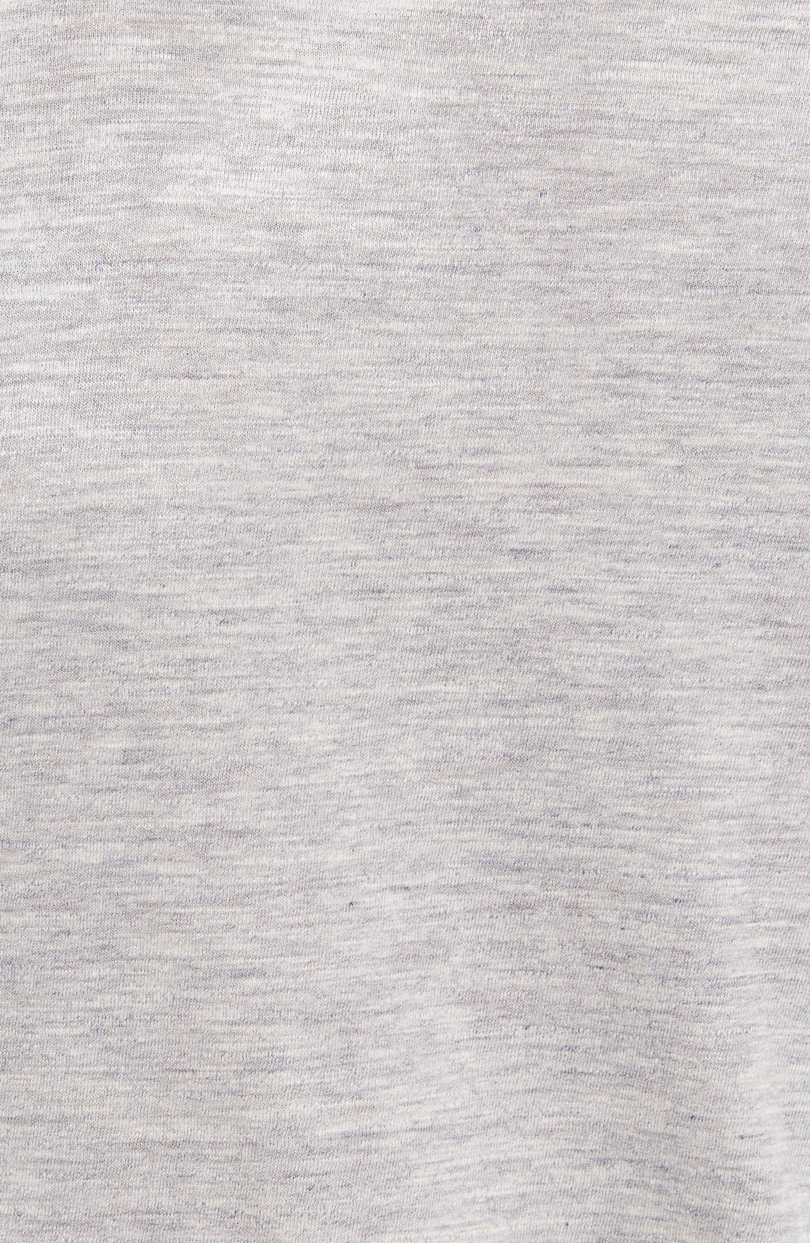 Logo Double Hem T-Shirt,                             Alternate thumbnail 5, color,                             Grey Melange