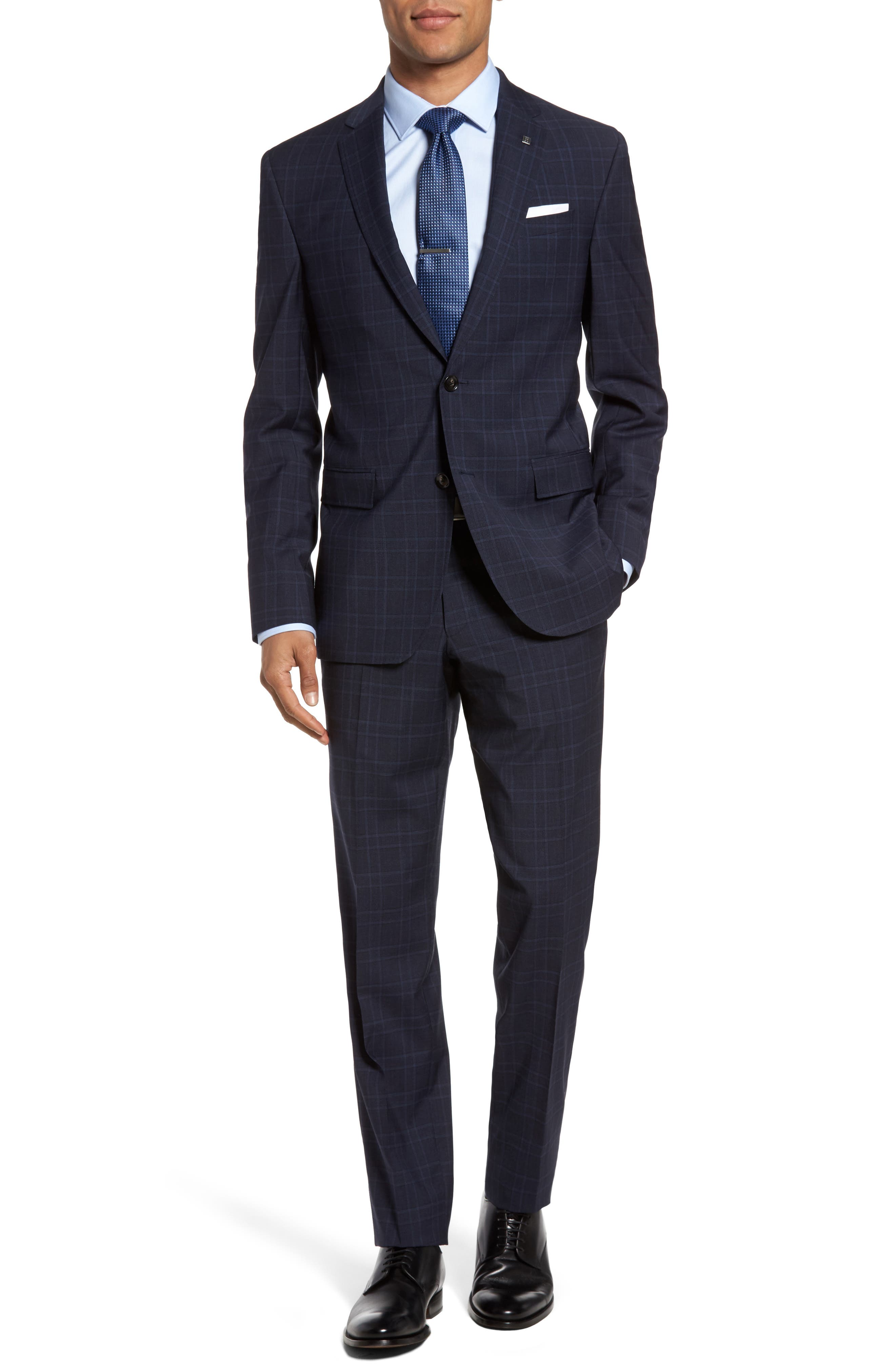 Main Image - Ted Baker London Jay Trim Fit Plaid Wool Suit