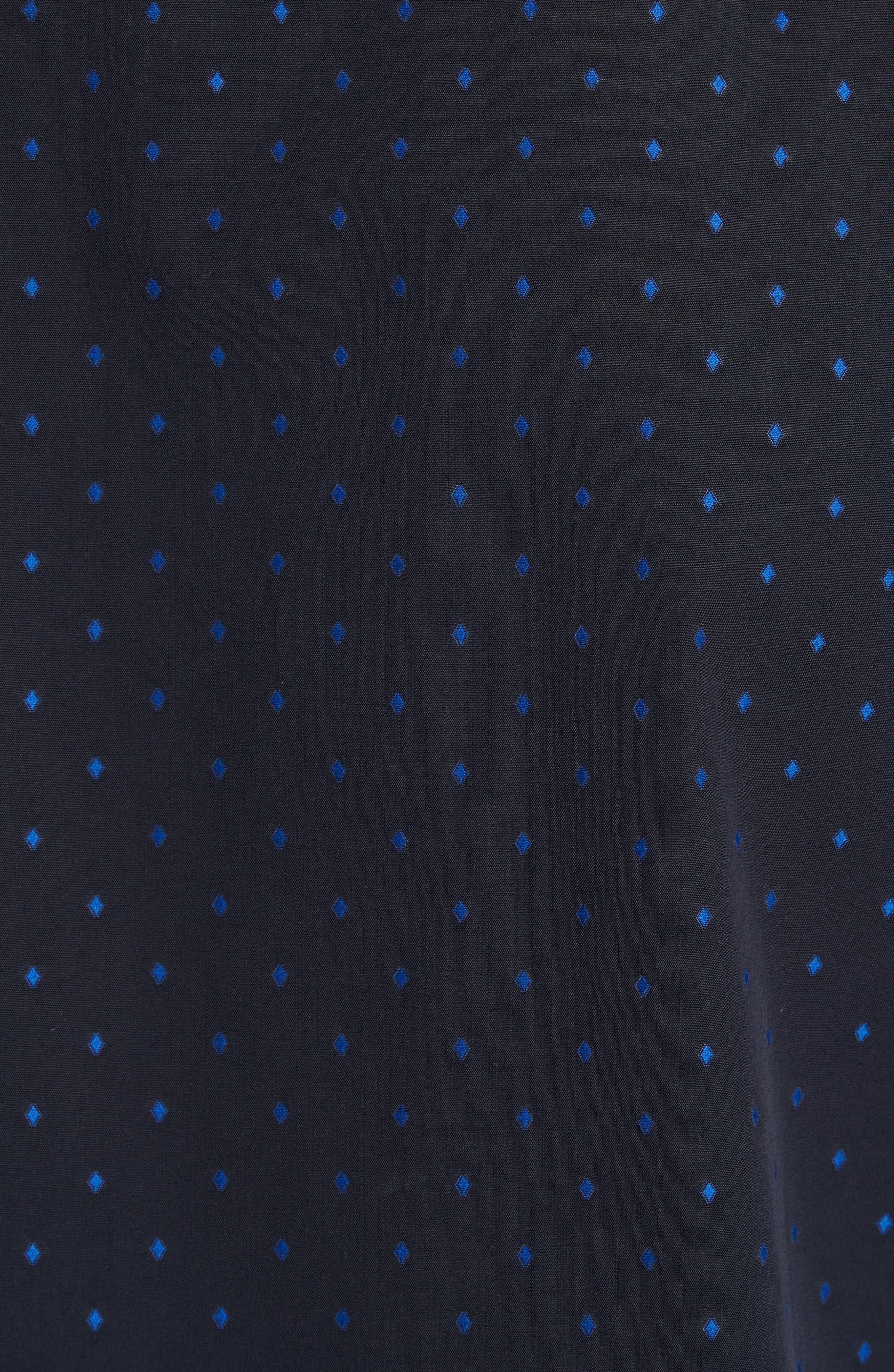 Alternate Image 5  - Armani Collezioni Fil Coupe Diamond Jacquard Sport Shirt