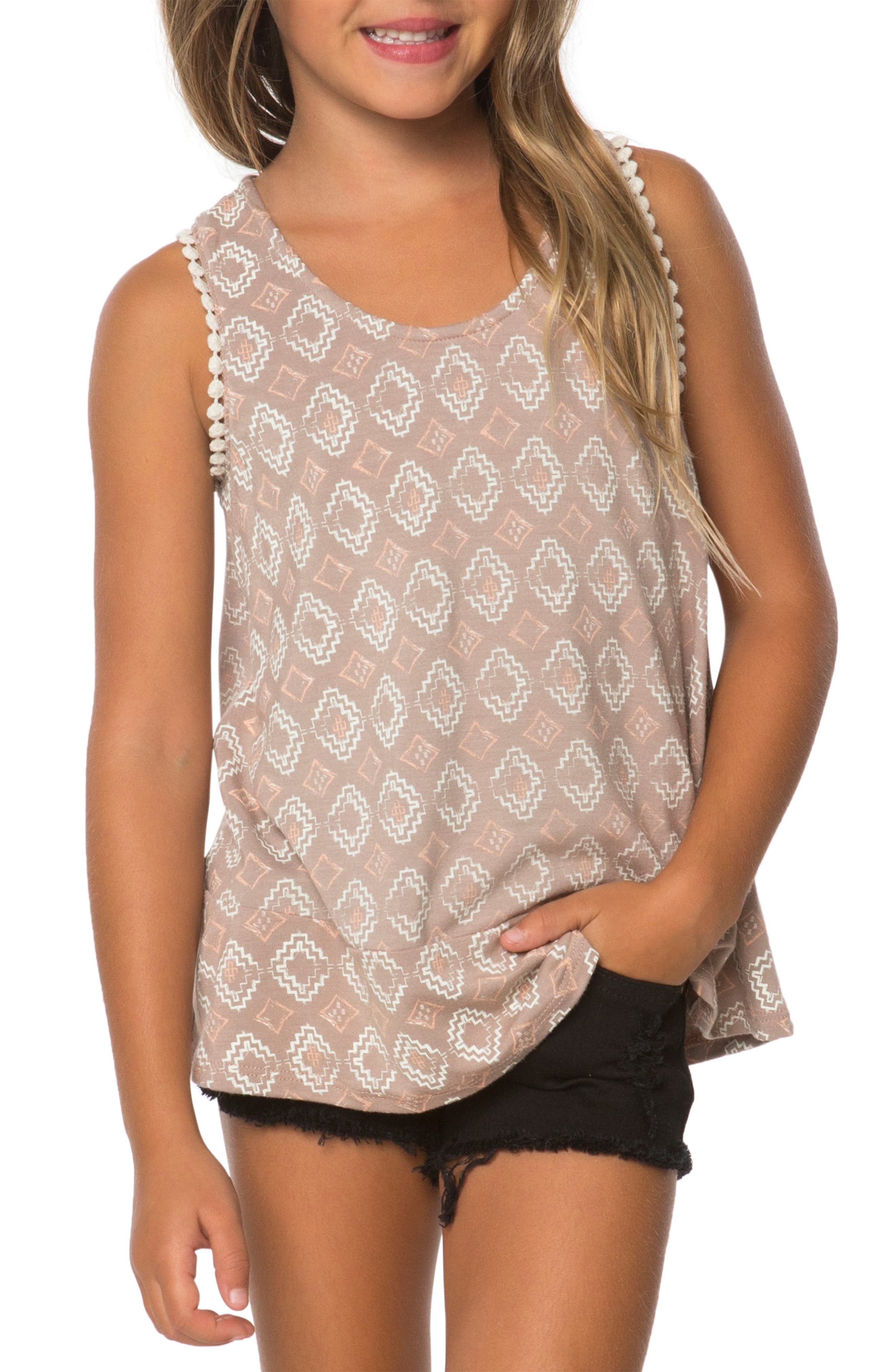 Kenny Graphic Tank,                         Main,                         color, Stucco
