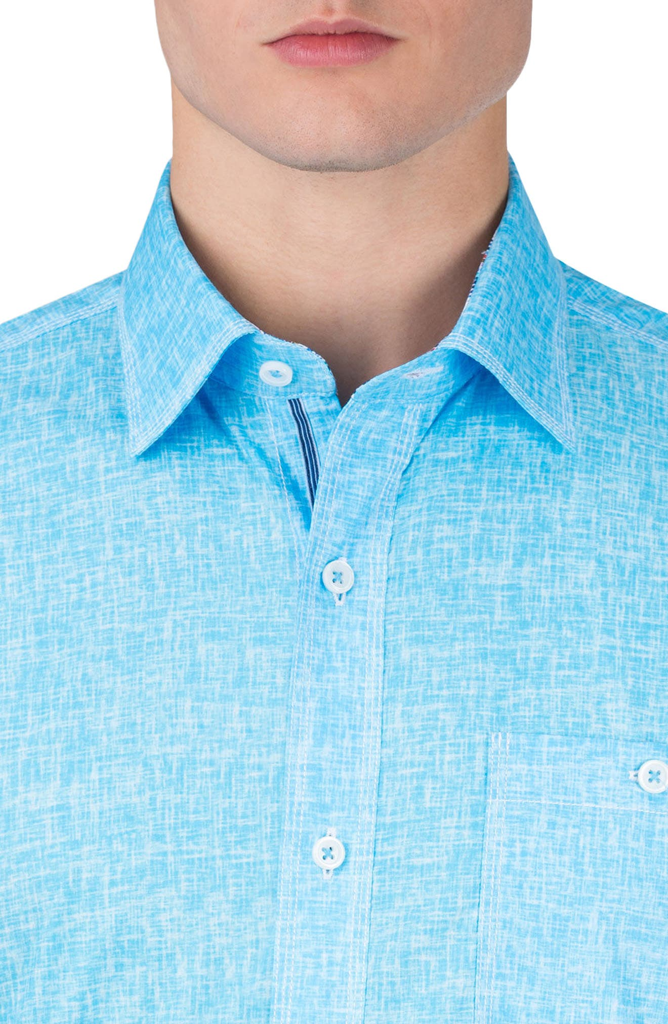 Classic Fit Solid Sport Shirt,                             Alternate thumbnail 3, color,                             Ice