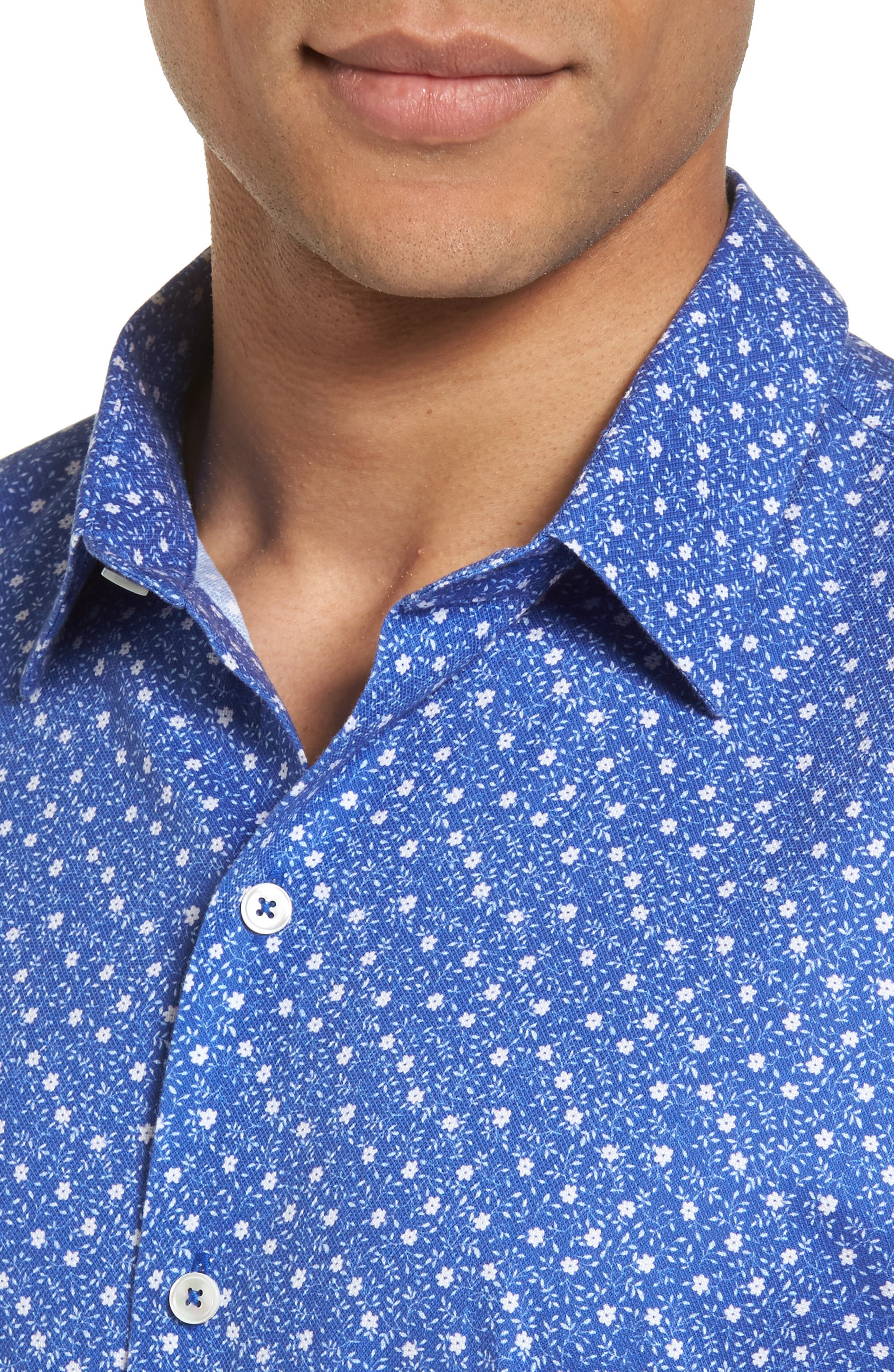 Alternate Image 2  - Zachary Prell Floral Print Short Sleeve Sport Shirt