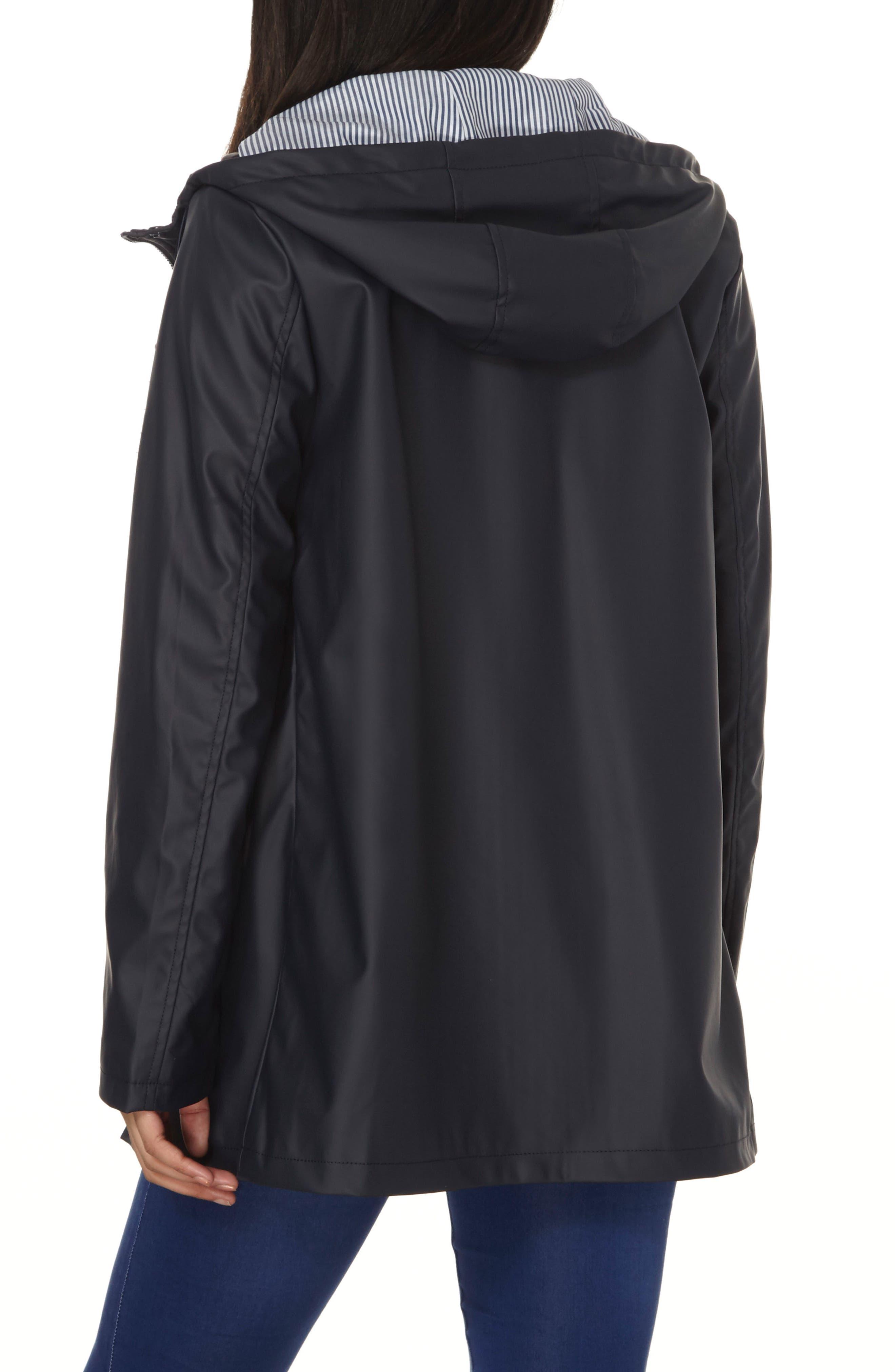 Hooded Rain Jacket,                             Alternate thumbnail 2, color,                             Navy Blue