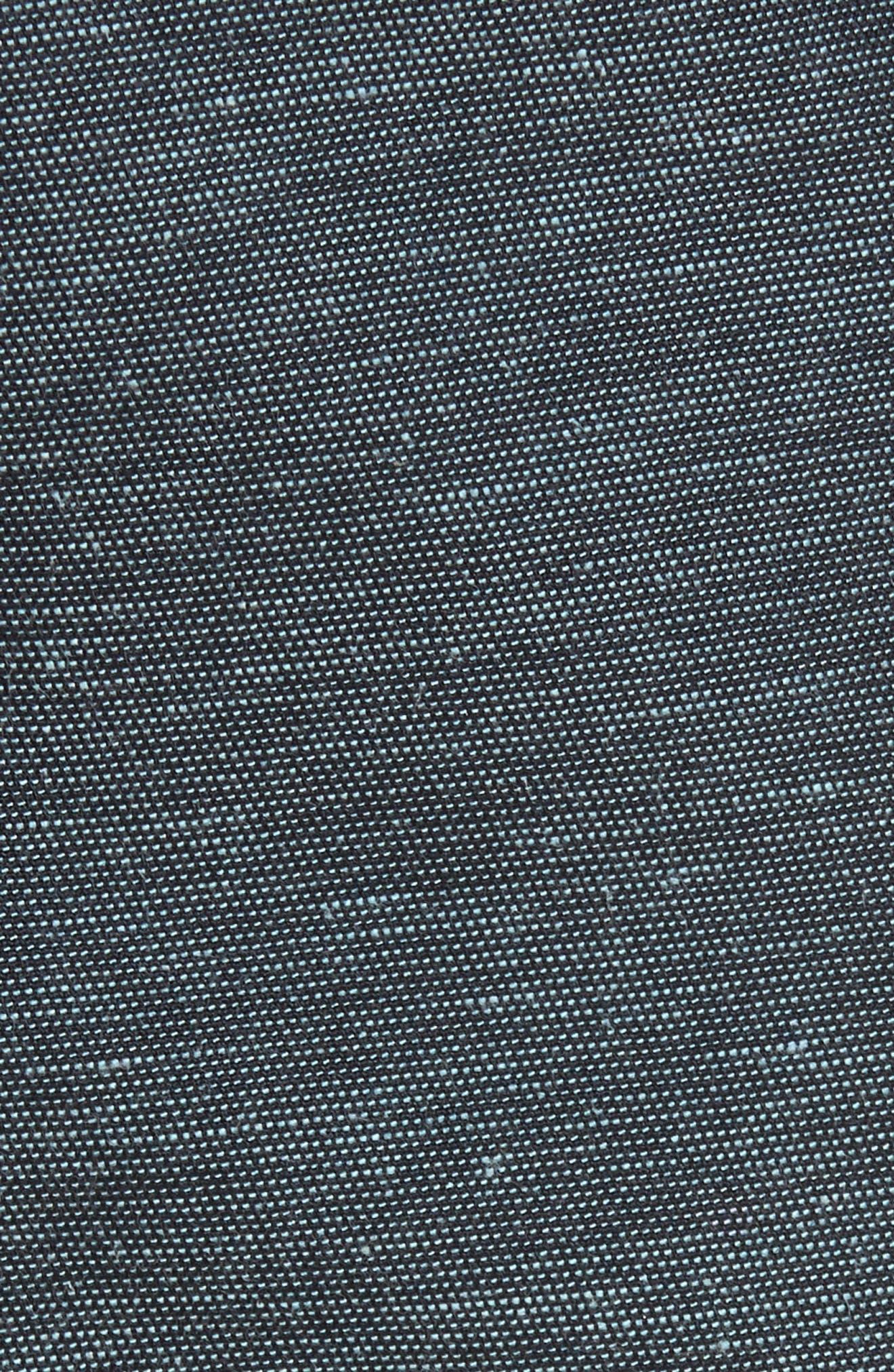 Delta Slub Short,                             Alternate thumbnail 5, color,                             Dark Navy