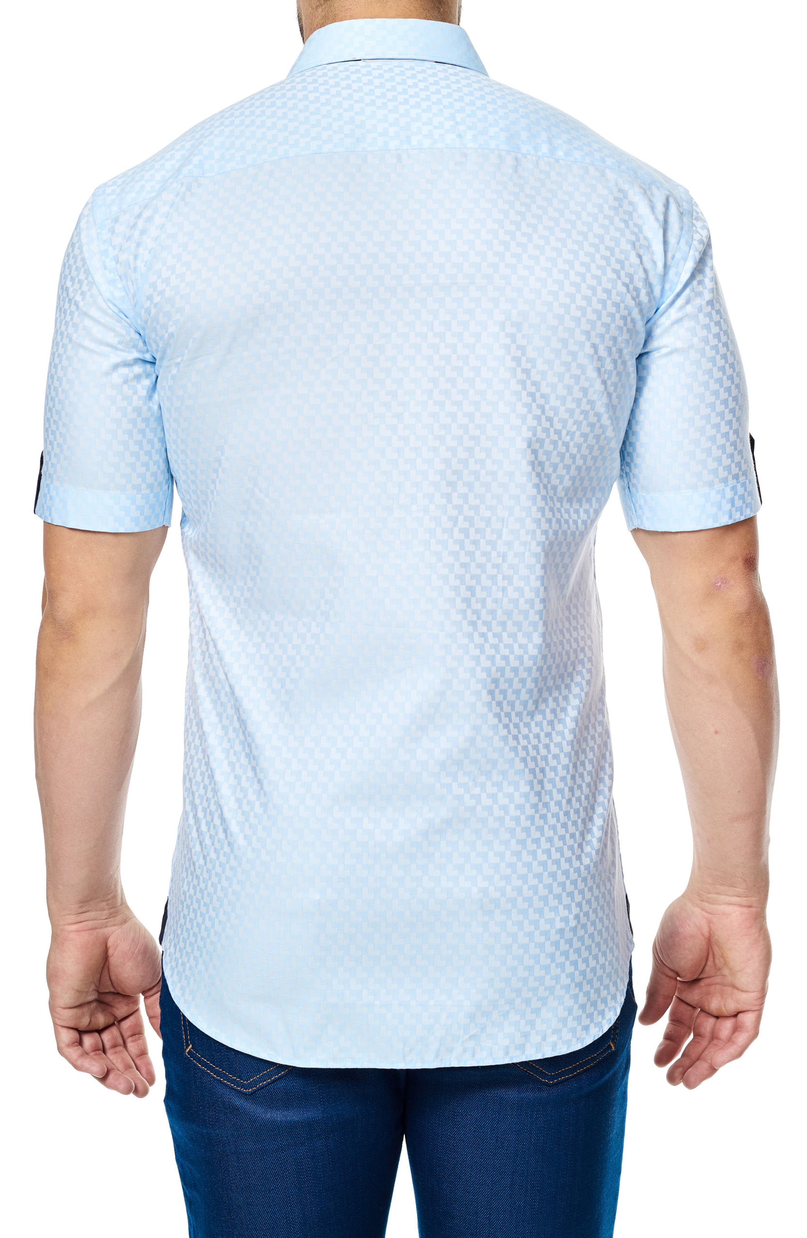 Alternate Image 2  - Maceoo Fresh Jacquard Sport Shirt