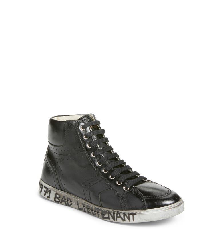 saint laurent distressed sneaker men nordstrom. Black Bedroom Furniture Sets. Home Design Ideas