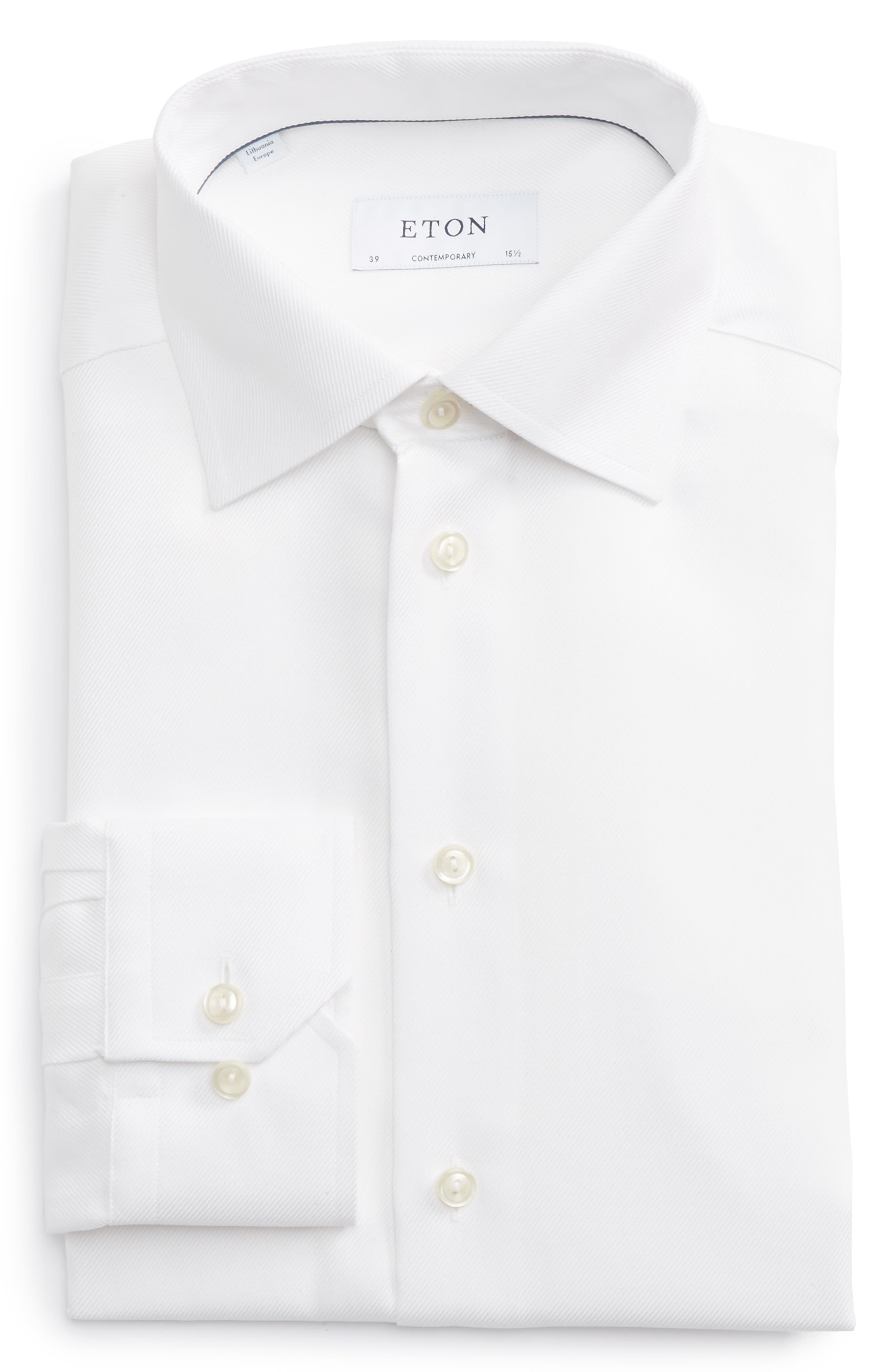 Main Image - Eton Contemporary Fit Cavalry Twill Dress Shirt