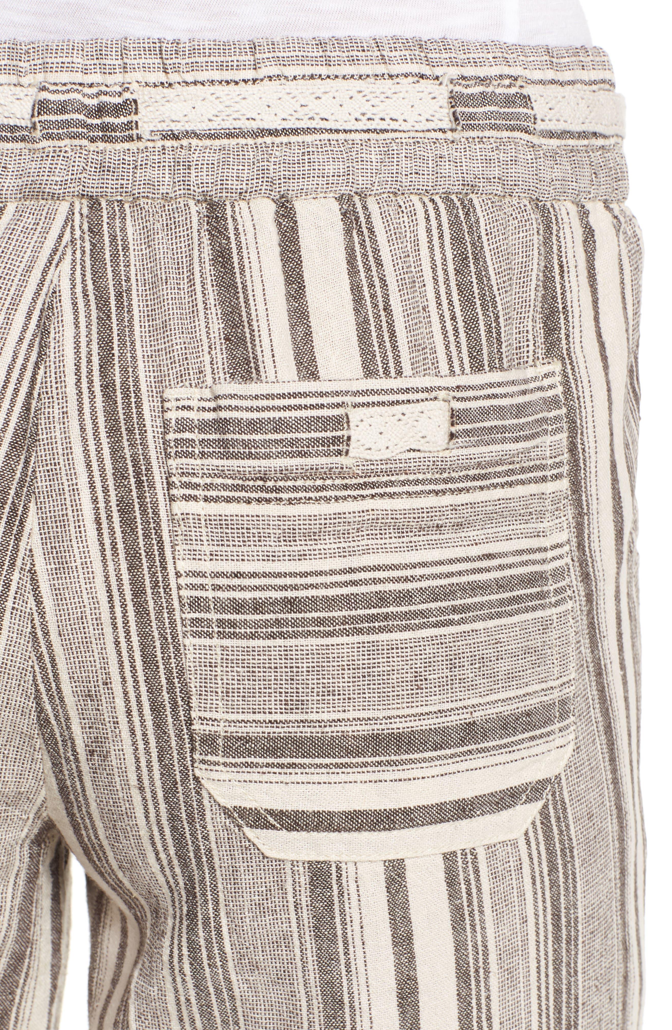 Alternate Image 4  - Wit & Wisdom Drawstring Stripe Crop Sailor Pants (Nordstrom Exclusive) (Regular & Petite)