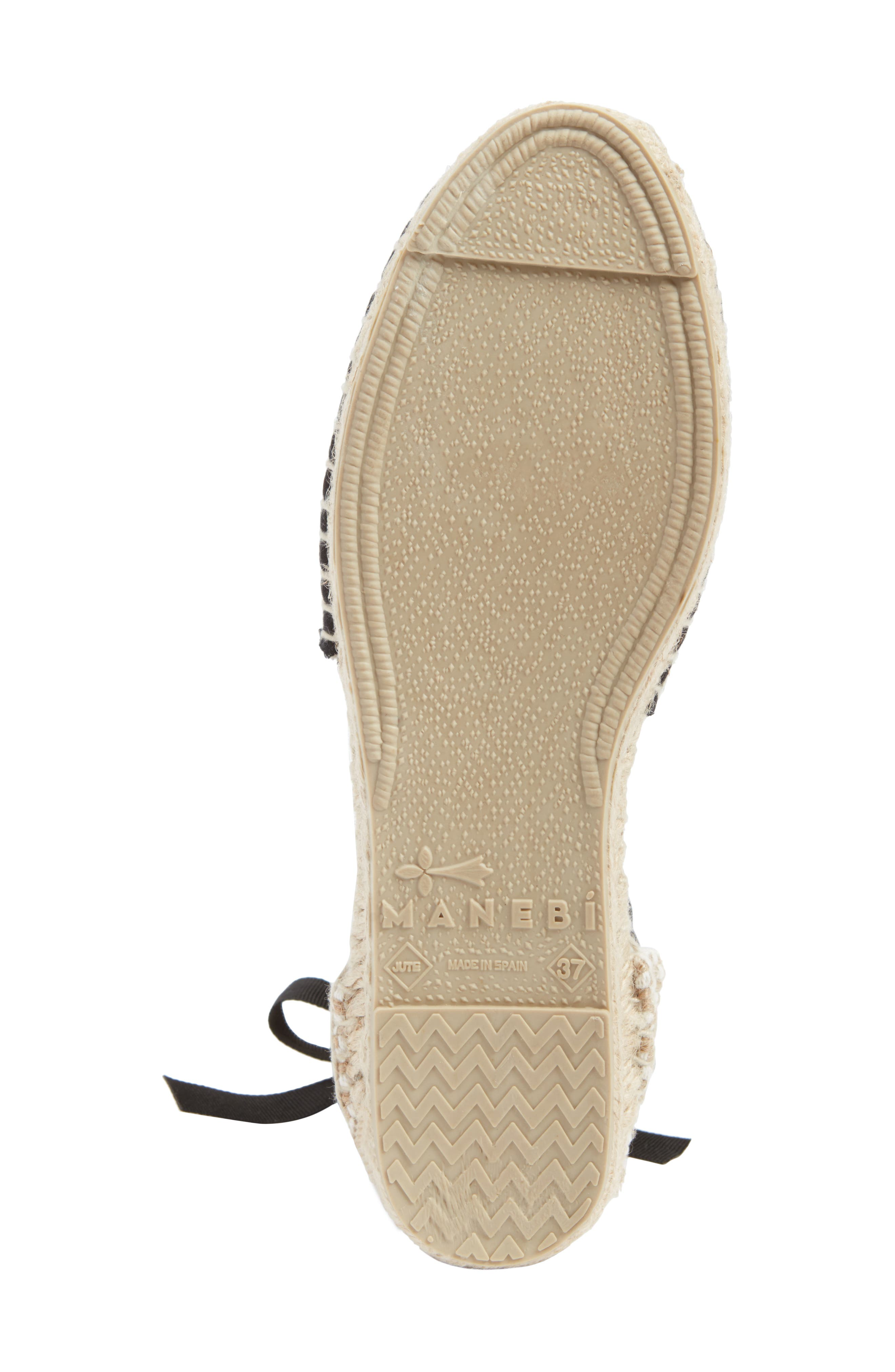 MANEBÍ Rajasthan Espadrille Sandal,                             Alternate thumbnail 6, color,                             Indian Fabric