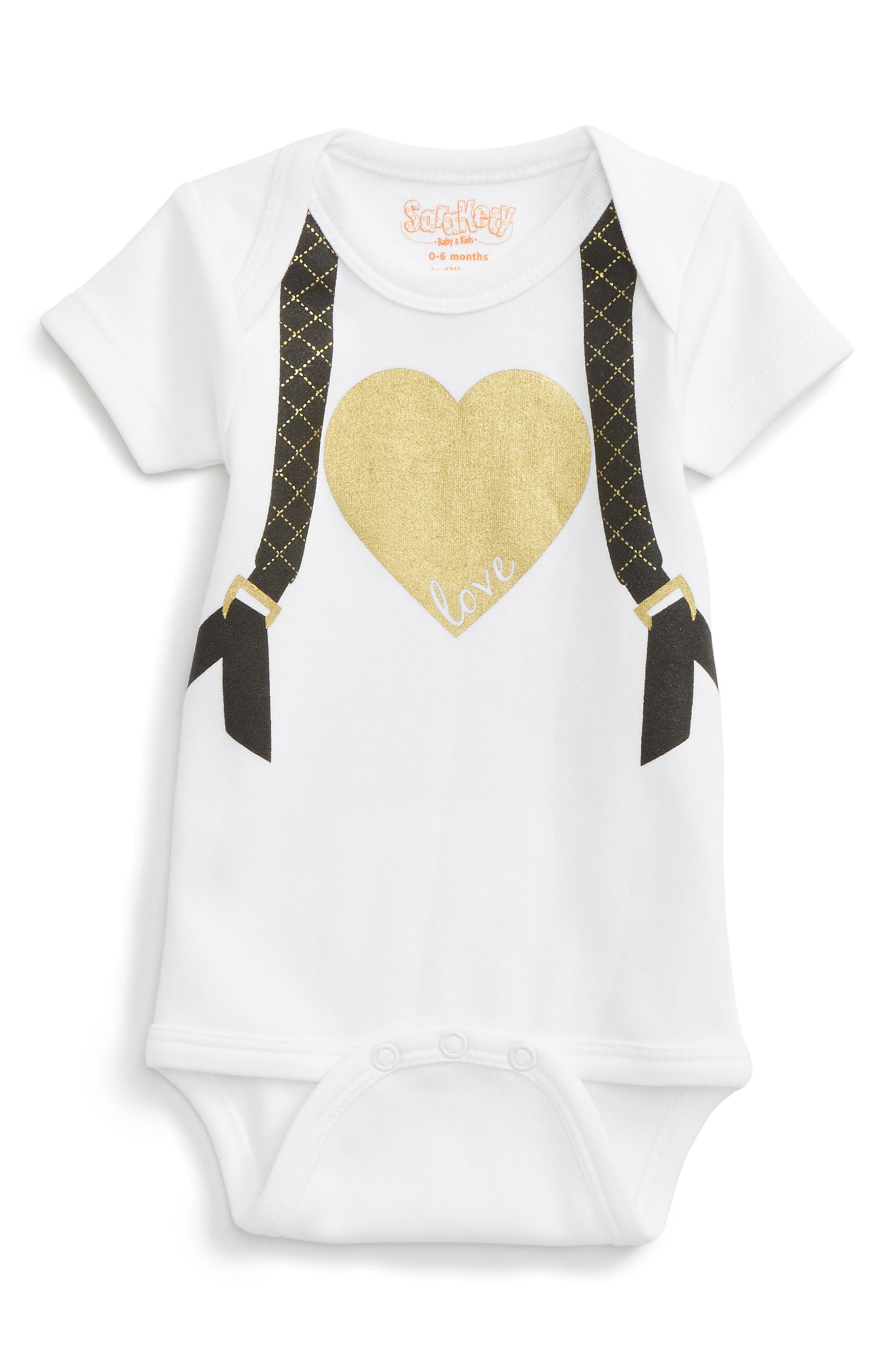 Alternate Image 1 Selected - Sara Kety Baby & Kids Quilted Backpack Bodysuit (Baby Girls)
