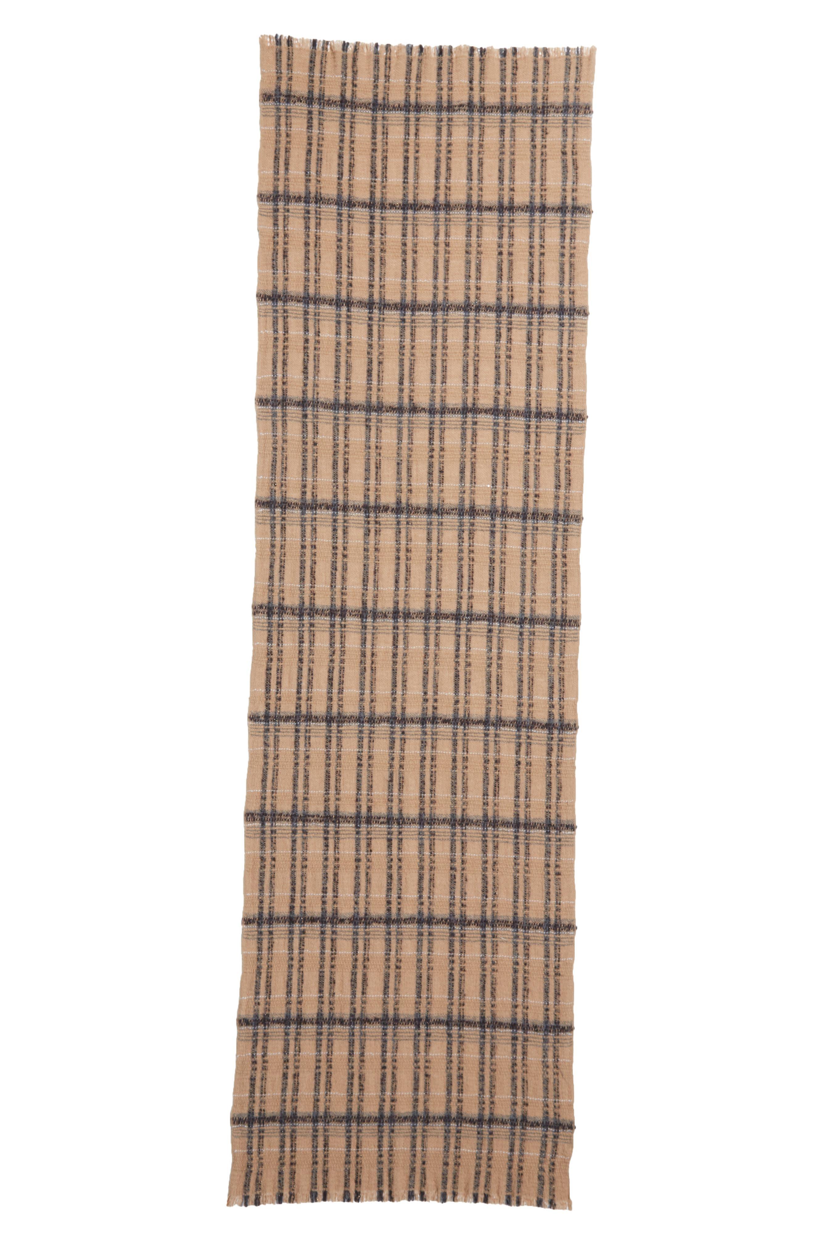 FABIANA FILIPPI Plaid Cashmere, Alpaca & Wool Scarf