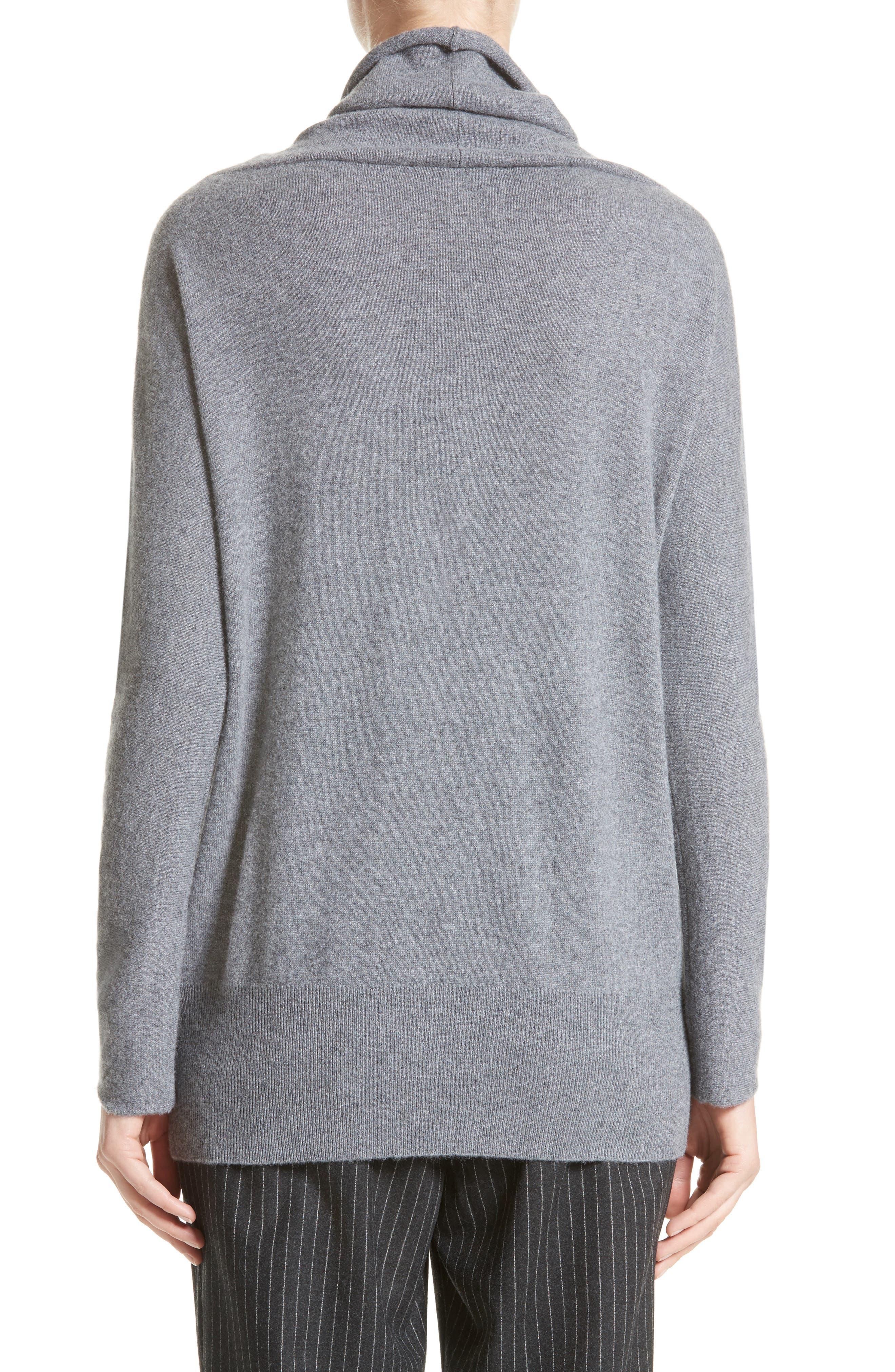 Embellished Cashmere Turtleneck Sweater,                             Alternate thumbnail 2, color,                             Grey