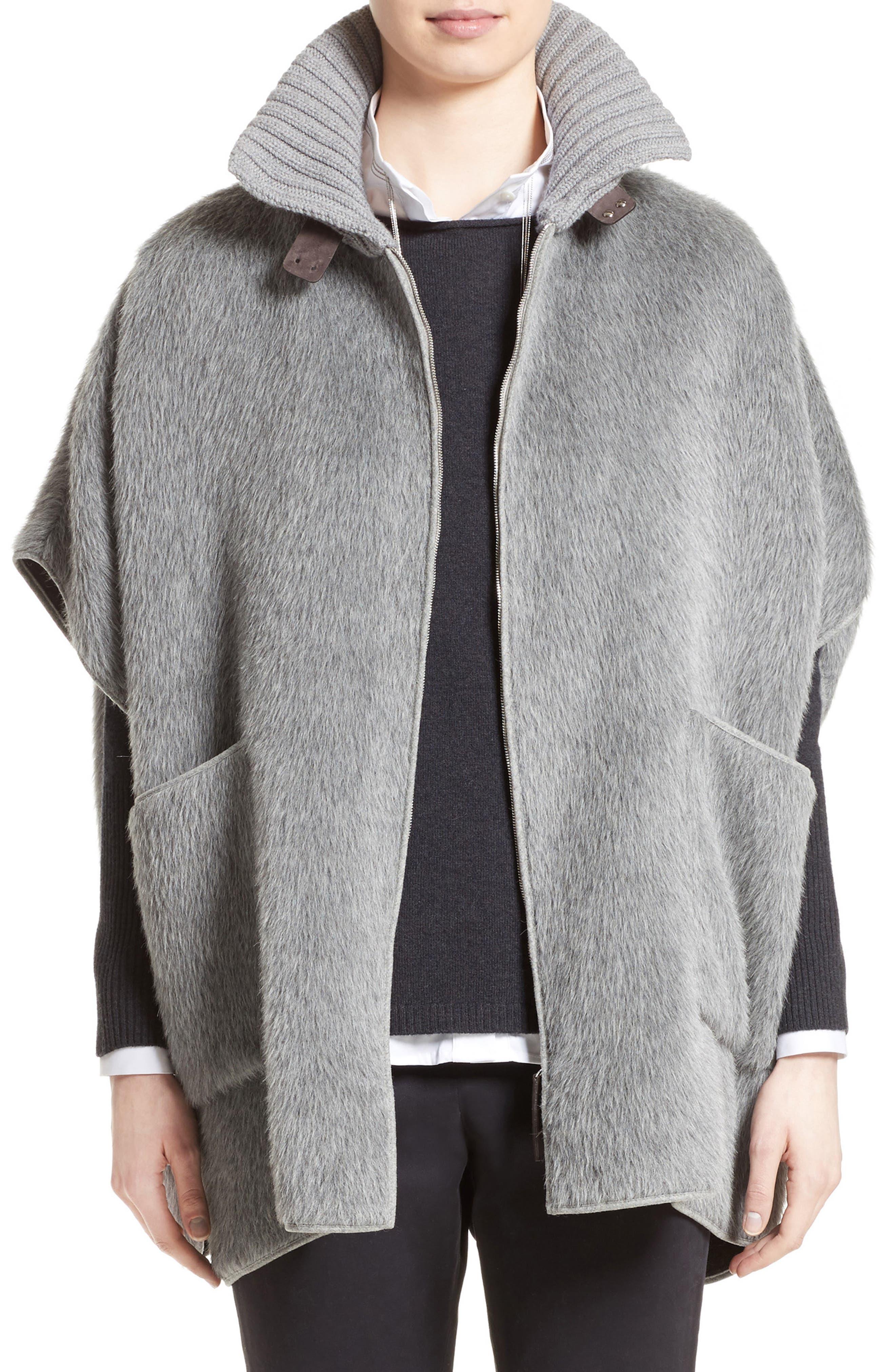 FABIANA FILIPPI Textured Alpaca & Wool Cape