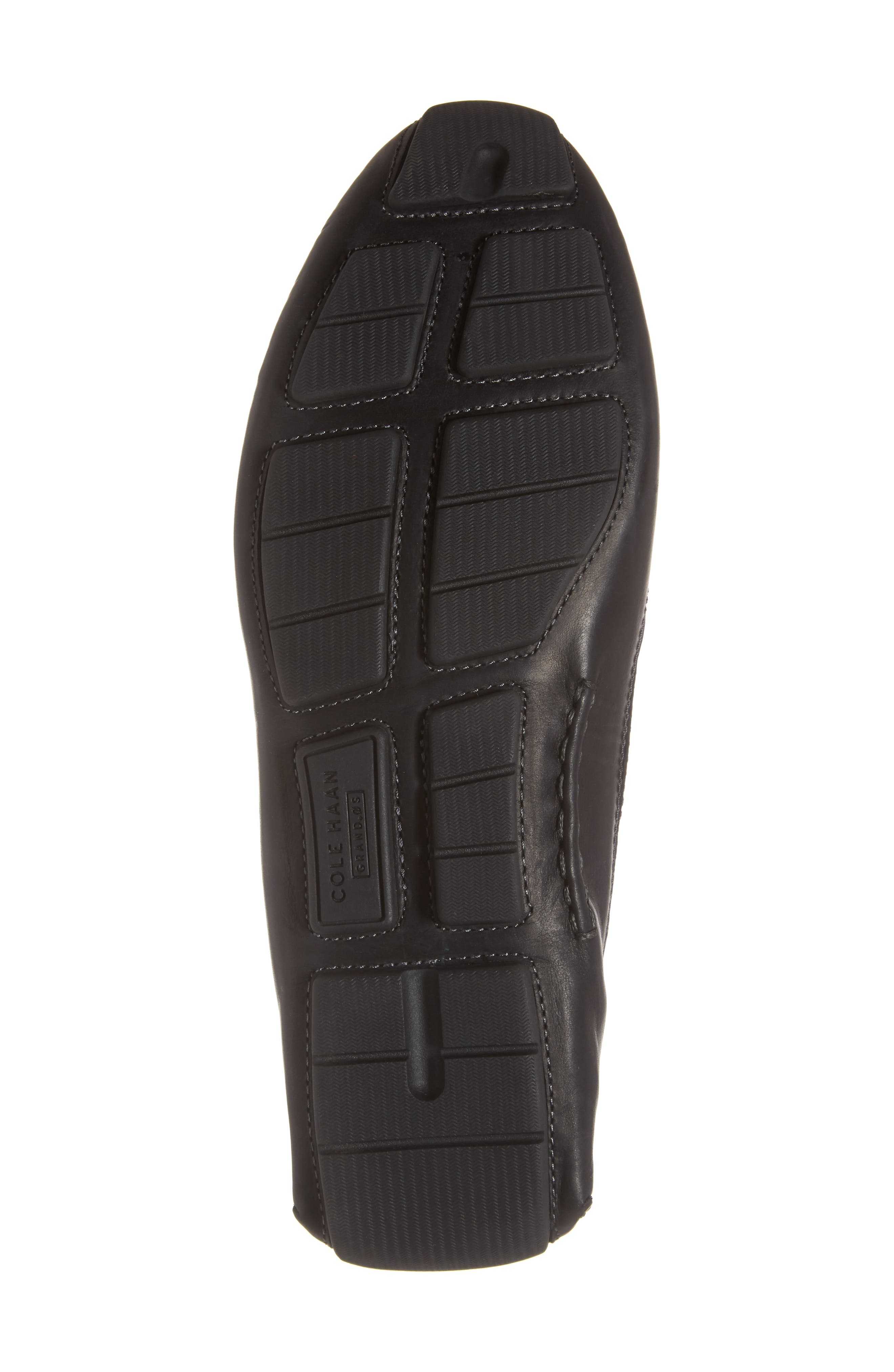 Kelson Bit Driving Shoe,                             Alternate thumbnail 6, color,                             Black Leather