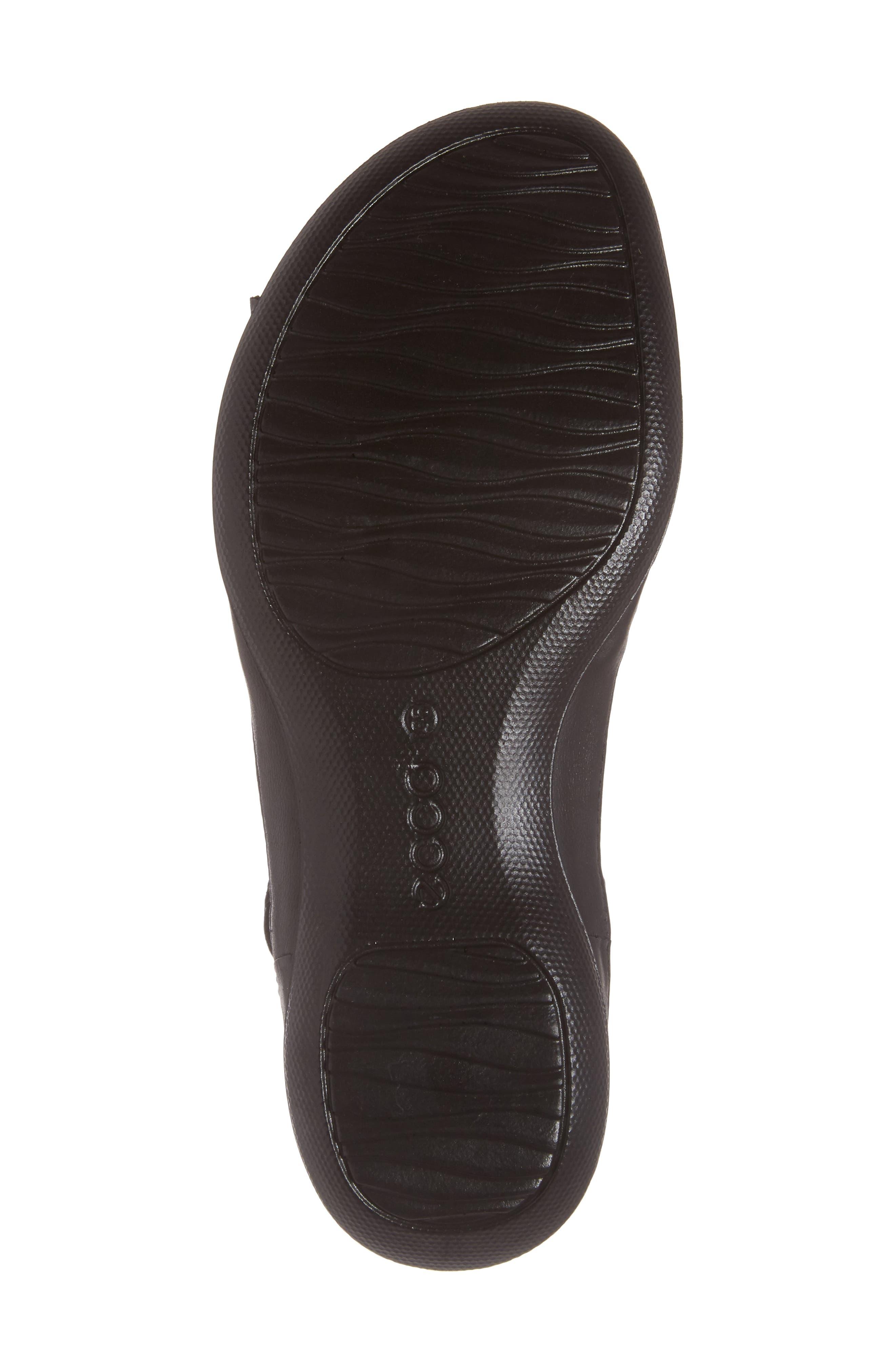 Flash Sandal,                             Alternate thumbnail 6, color,                             Black Leather