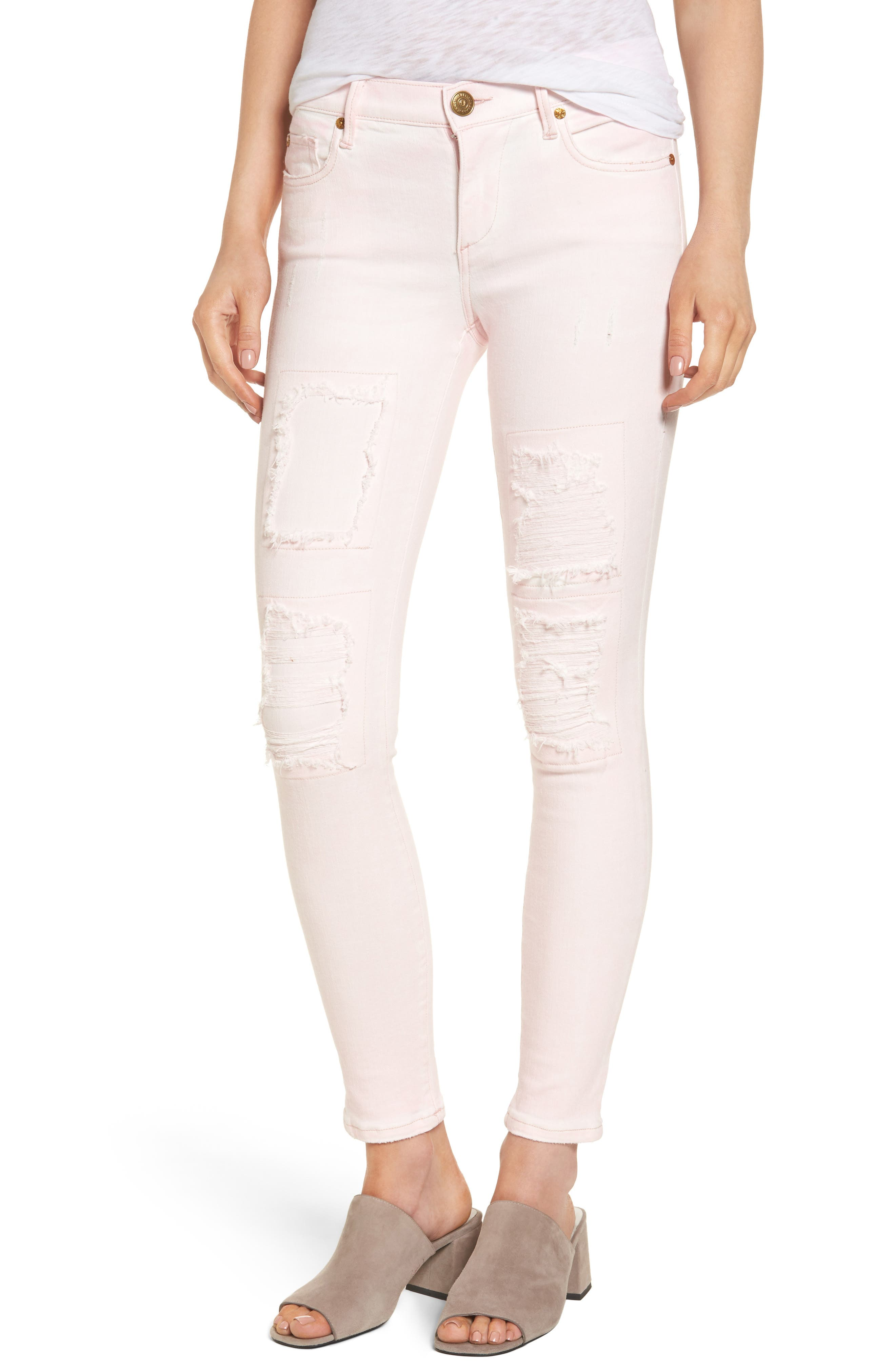 Main Image - True Religion Brand Jeans Halle Super Skinny Jeans (Urban Ash Rose)