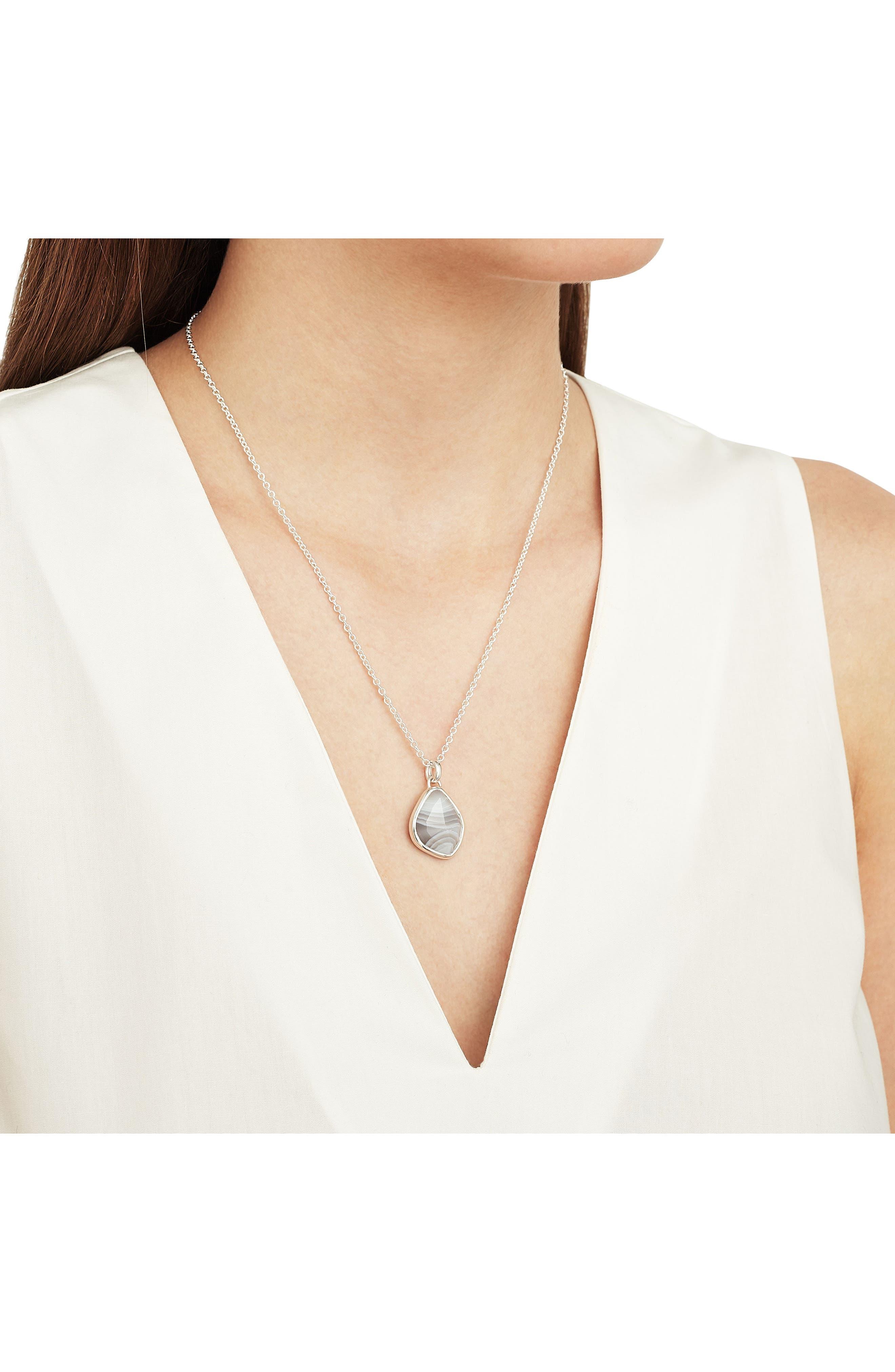 Alternate Image 2  - Monica Vinader Siren Nugget Semiprecious Stone Pendant