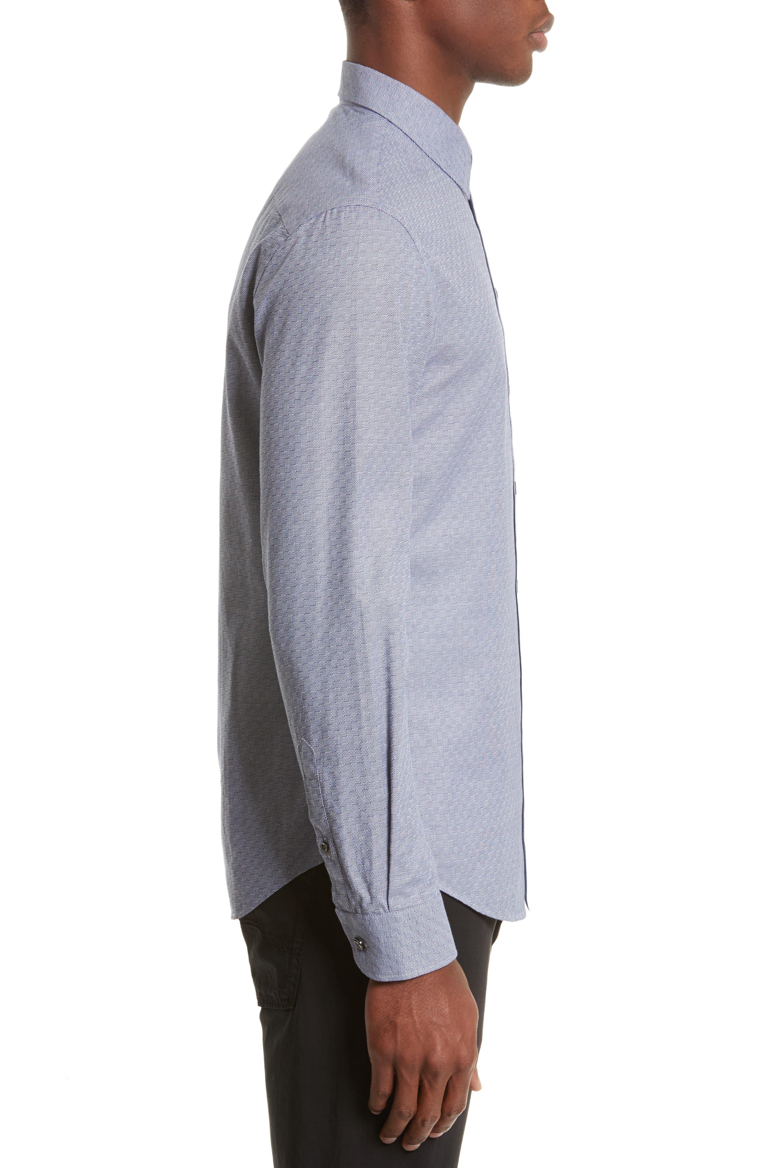 Alternate Image 3  - Armani Collezioni Geo Jacquard Sport Shirt