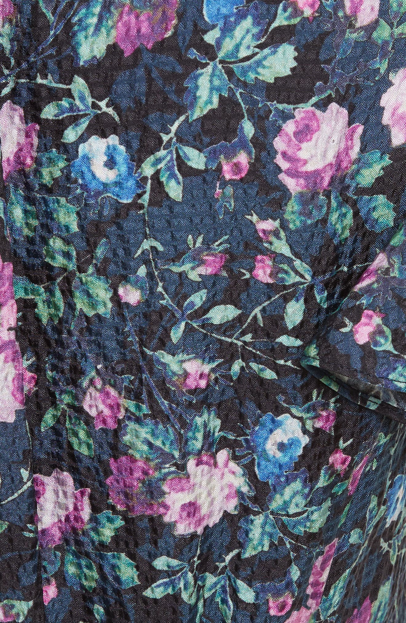 Alternate Image 5  - Rebecca Taylor Ruby Floral Smocked Silk Dress