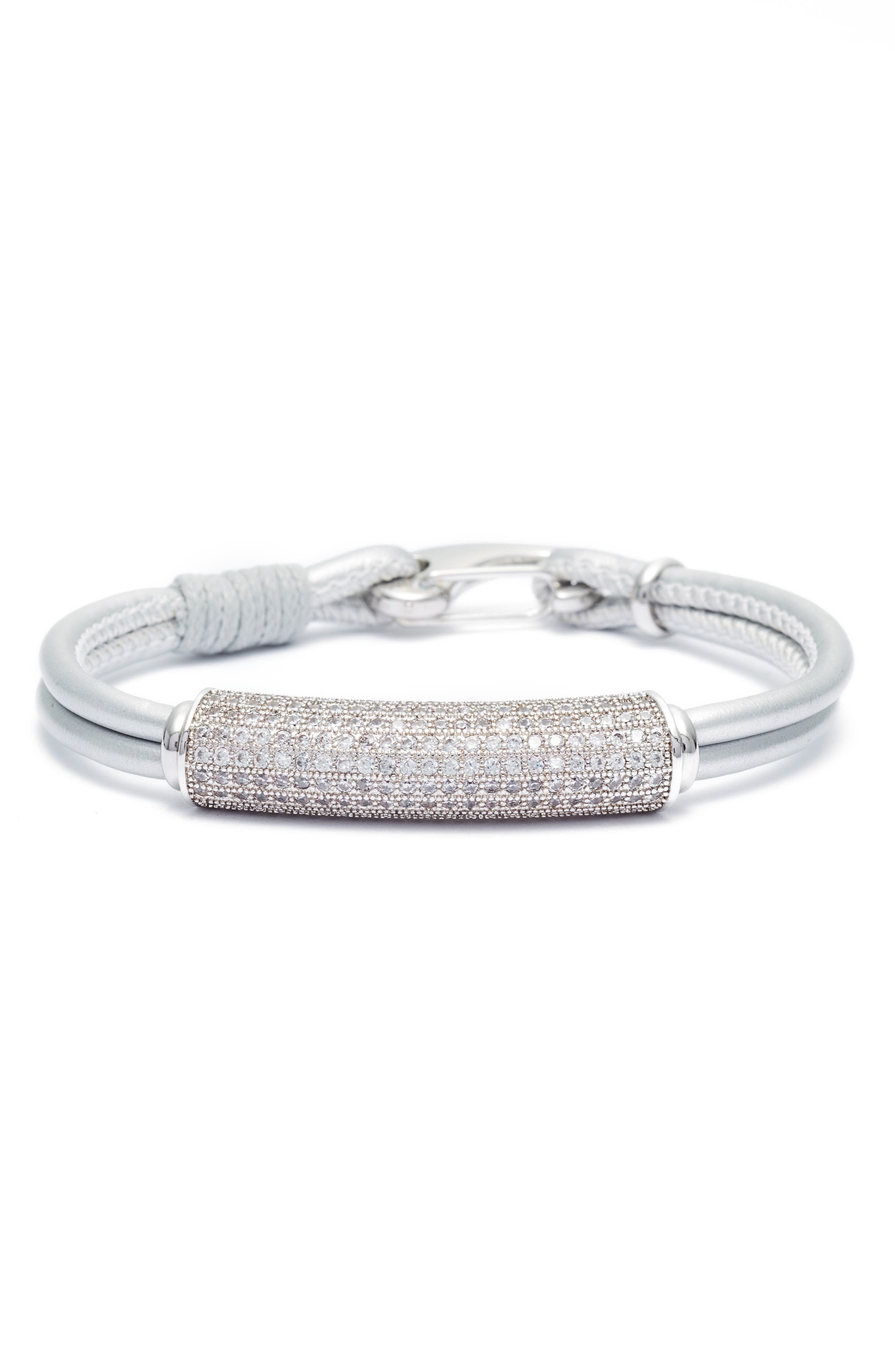 Elise M. Sorella Leather Bracelet