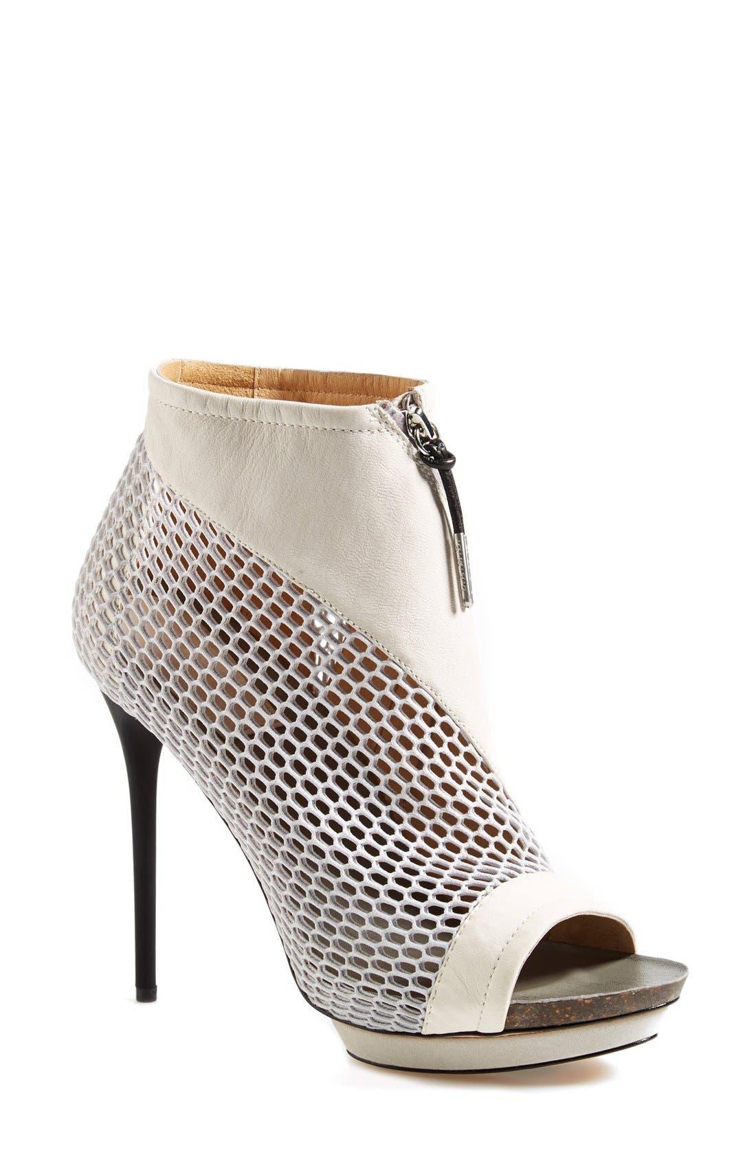 Main Image - L.A.M.B. 'Bicara' Leather & Mesh Platform Bootie (Women)
