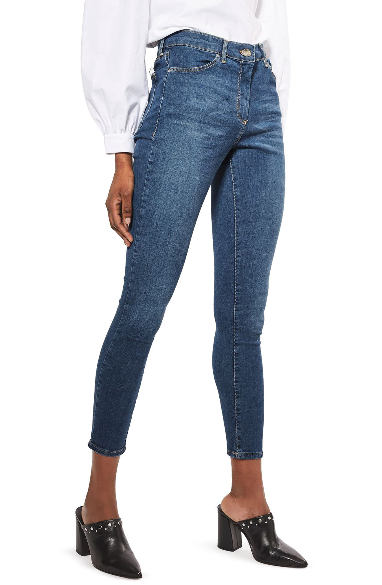 TOPSHOP Leigh Skinny Jeans