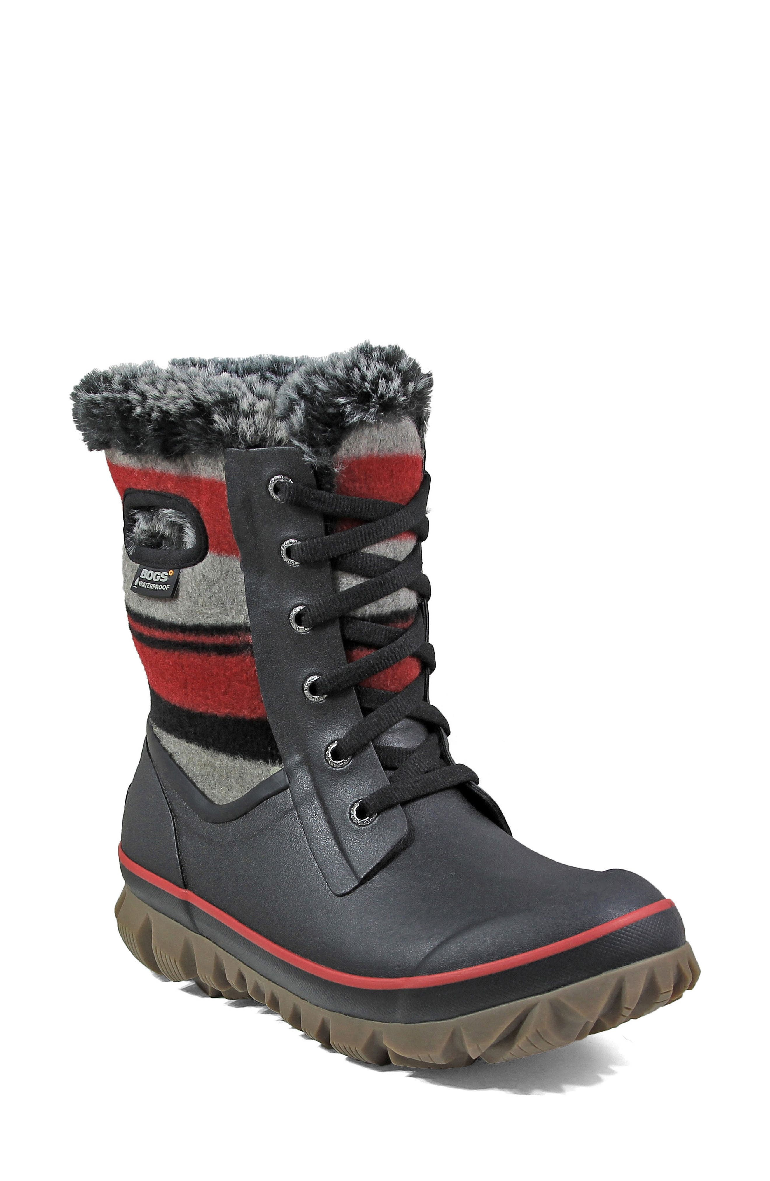 Bogs Arcata Stripe Waterproof Snow Boot (Women)