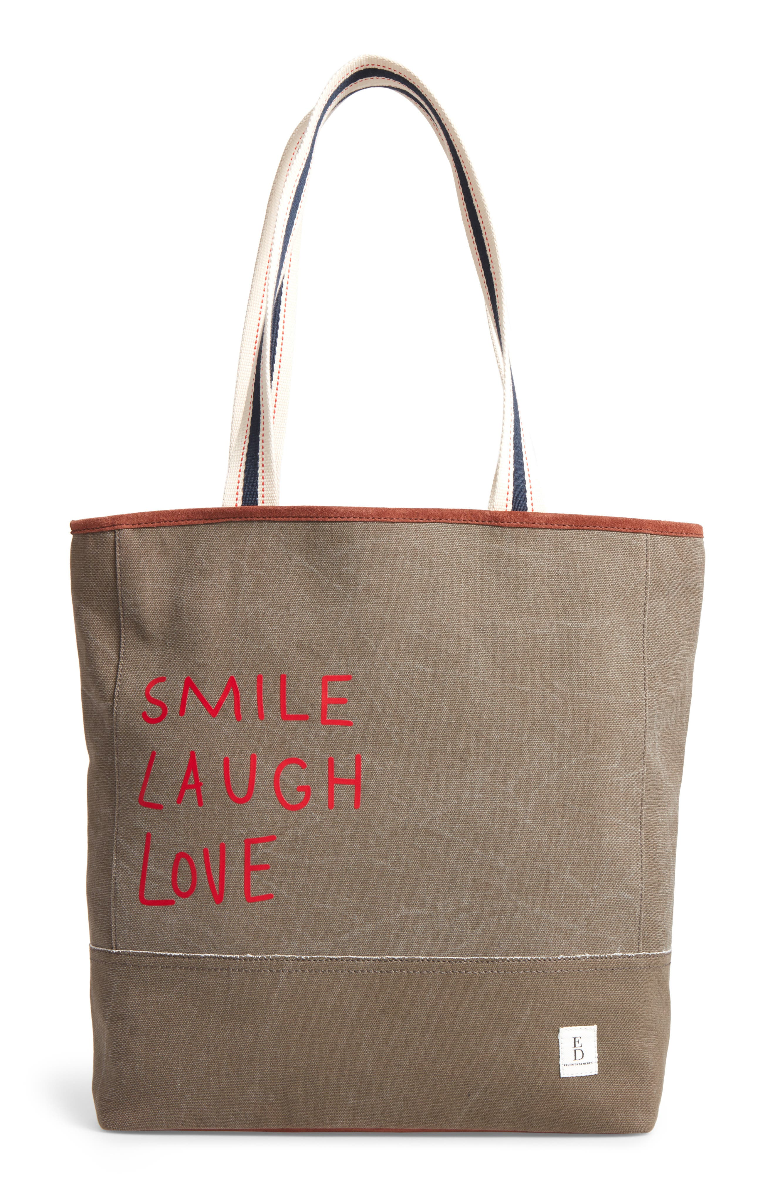 ED ELLEN DEGENERES Dakin Canvas & Leather Tote