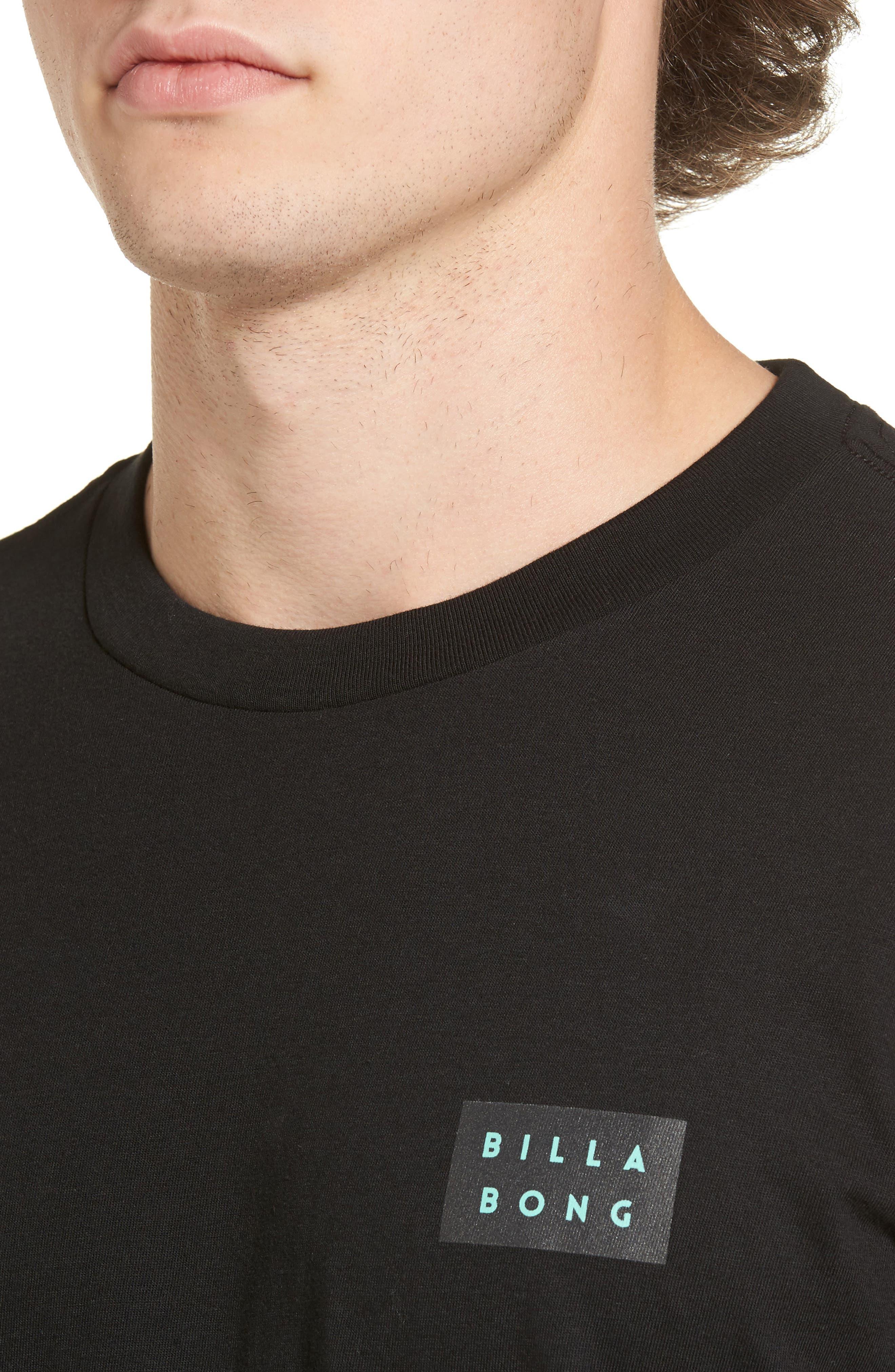 Fill Die Cut T-Shirt,                             Alternate thumbnail 4, color,                             Black