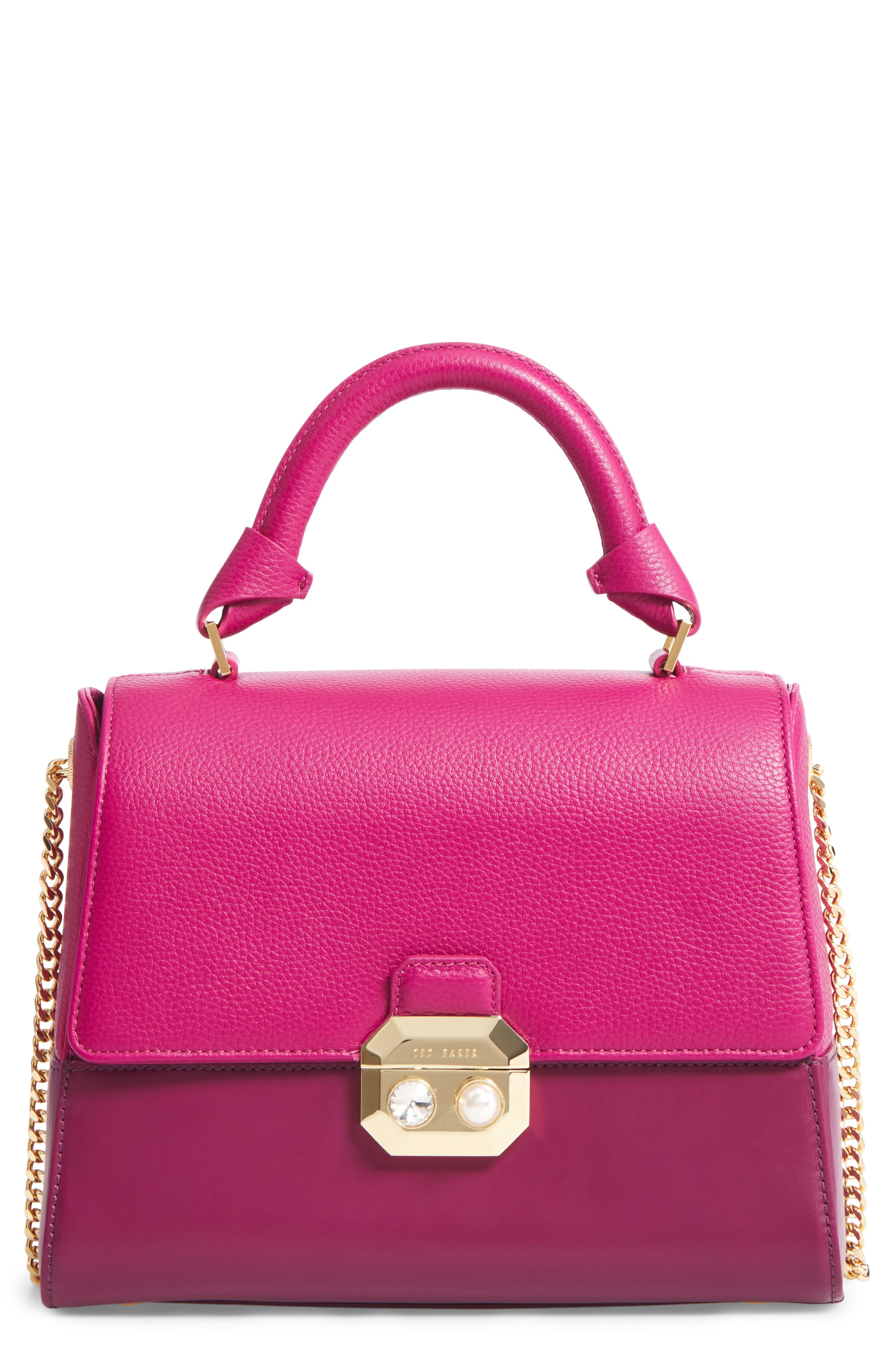 Main Image - Ted Baker London Shirley Leather Crossbody Bag