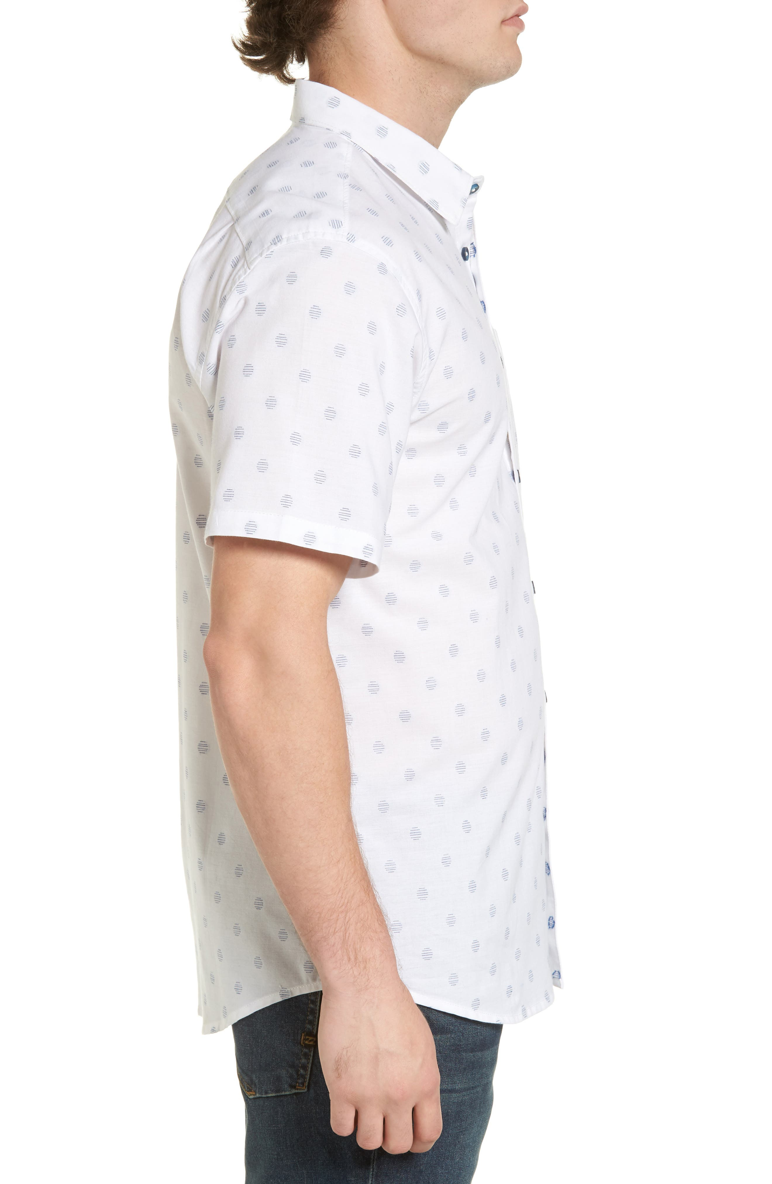 Cruisin Dobby Woven Shirt,                             Alternate thumbnail 3, color,                             White