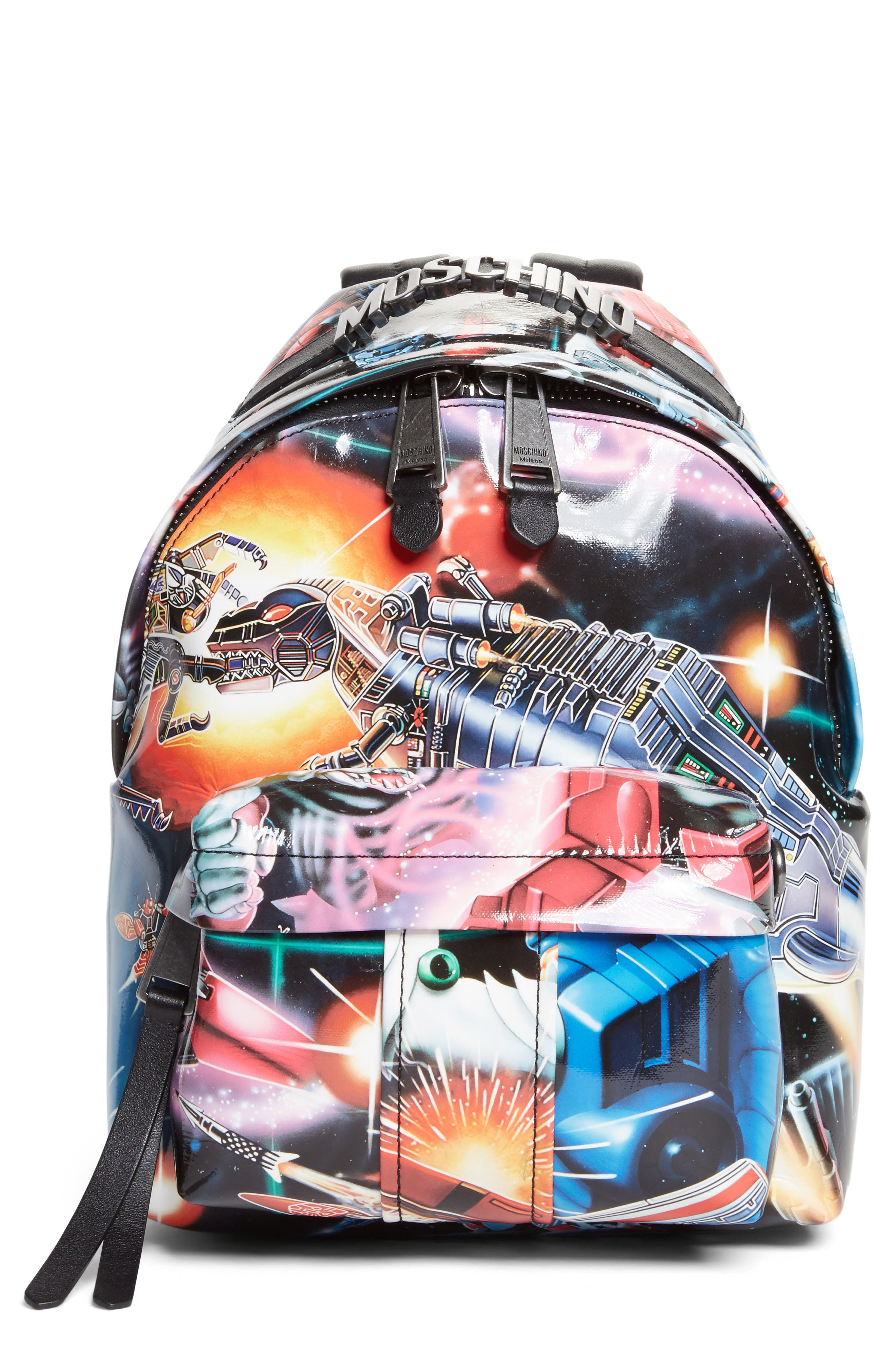 Moschino Small Transformer Print Backpack