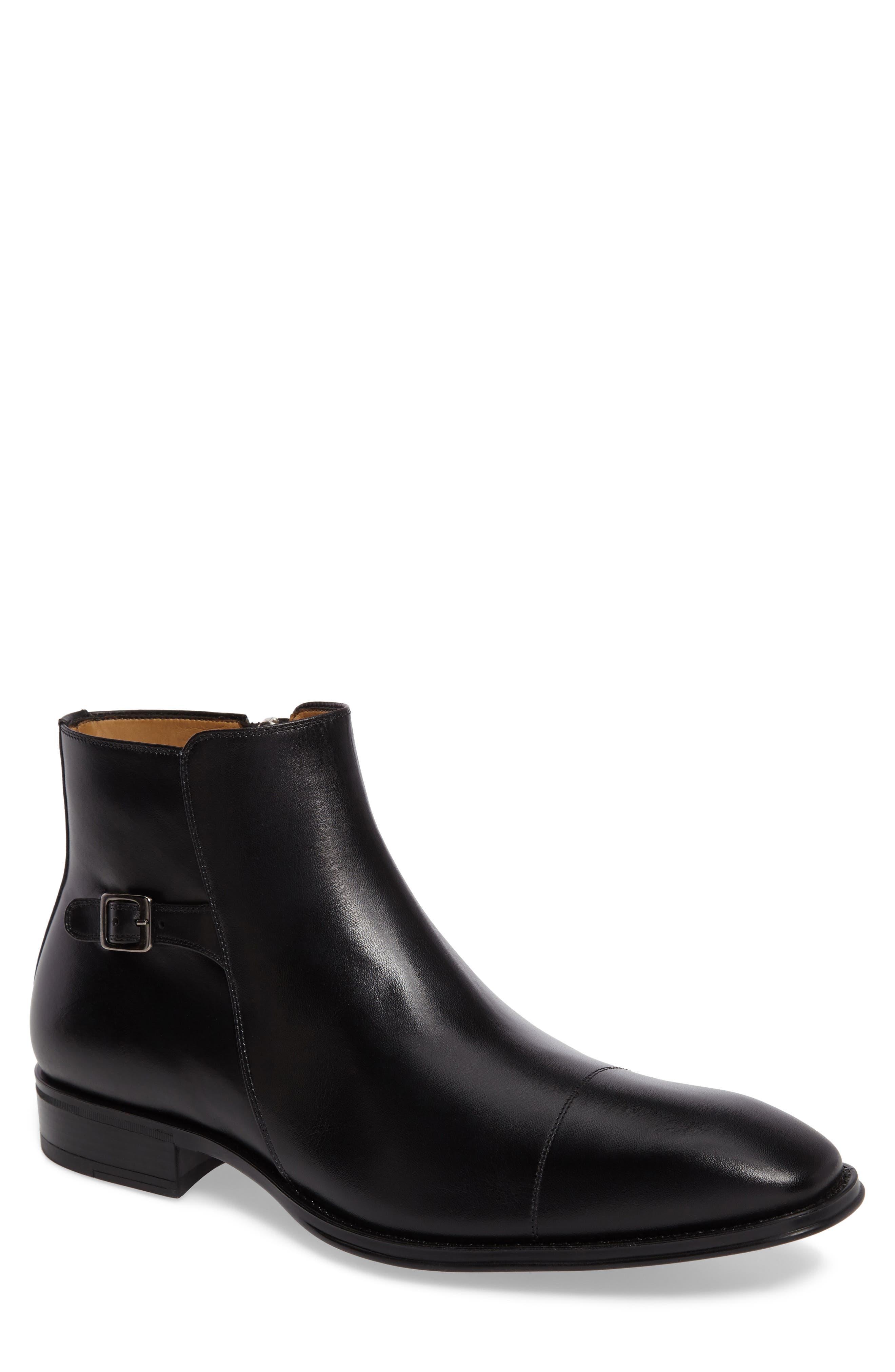 Casares II Zip Boot,                             Main thumbnail 1, color,                             Black