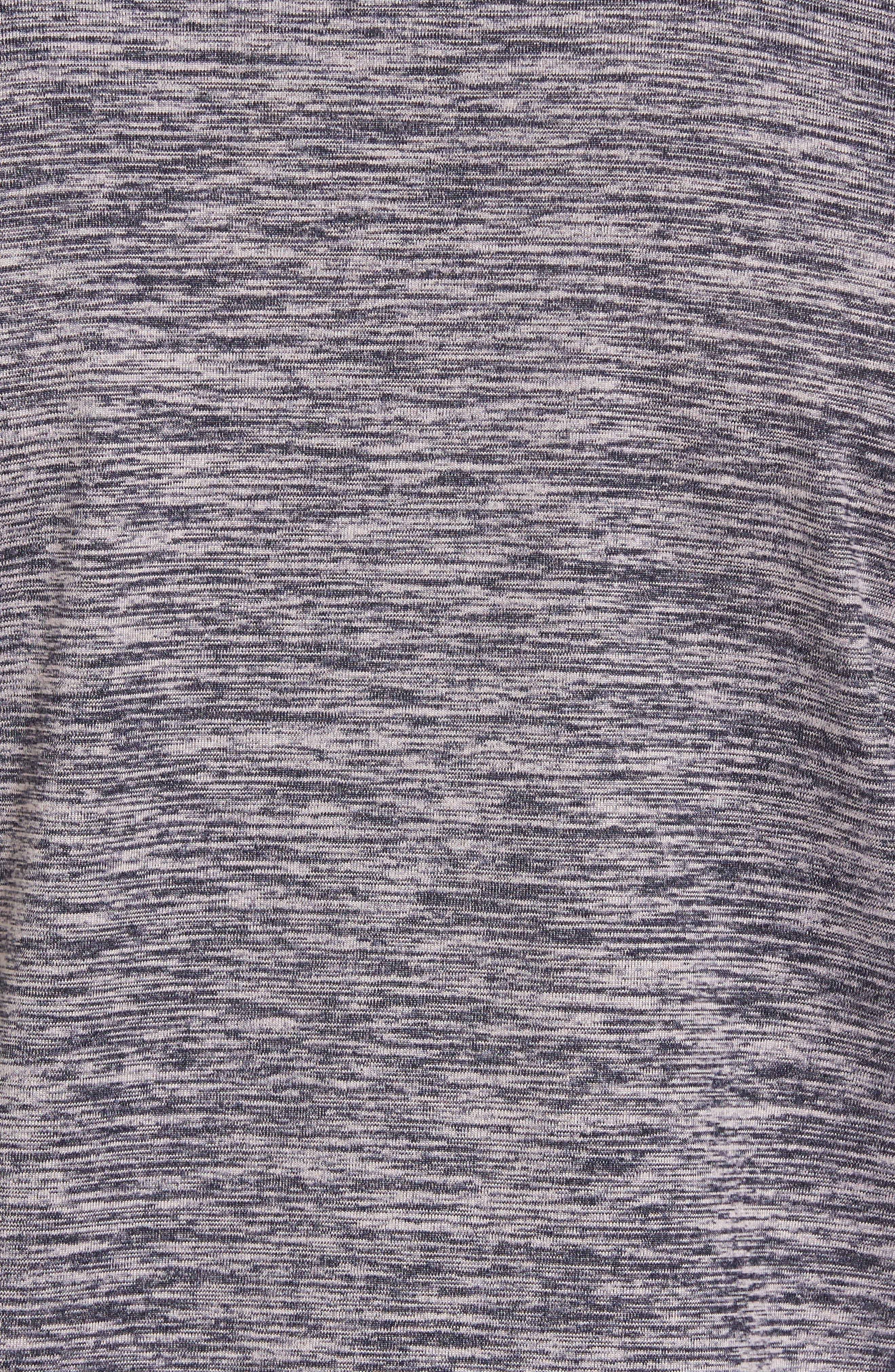 Celsian Quarter Zip Pullover,                             Alternate thumbnail 6, color,                             Purple Navy Melange