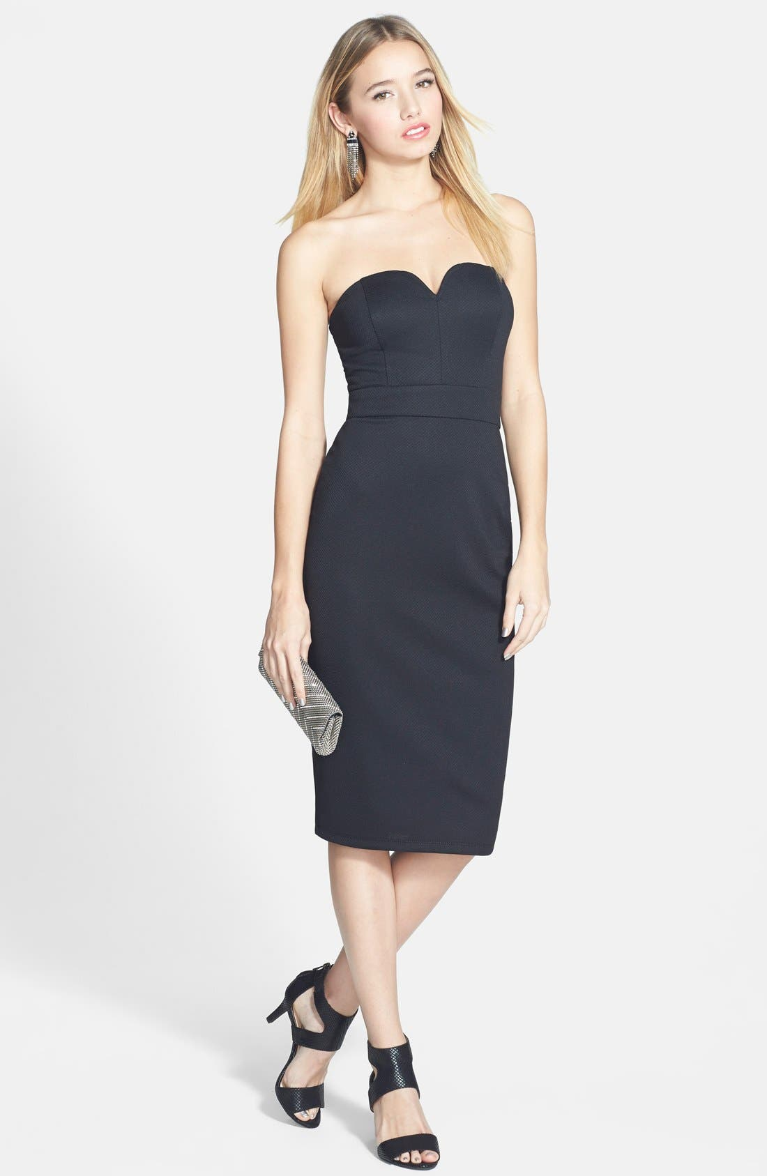 Alternate Image 1 Selected - Speechless Notched Strapless Midi Dress