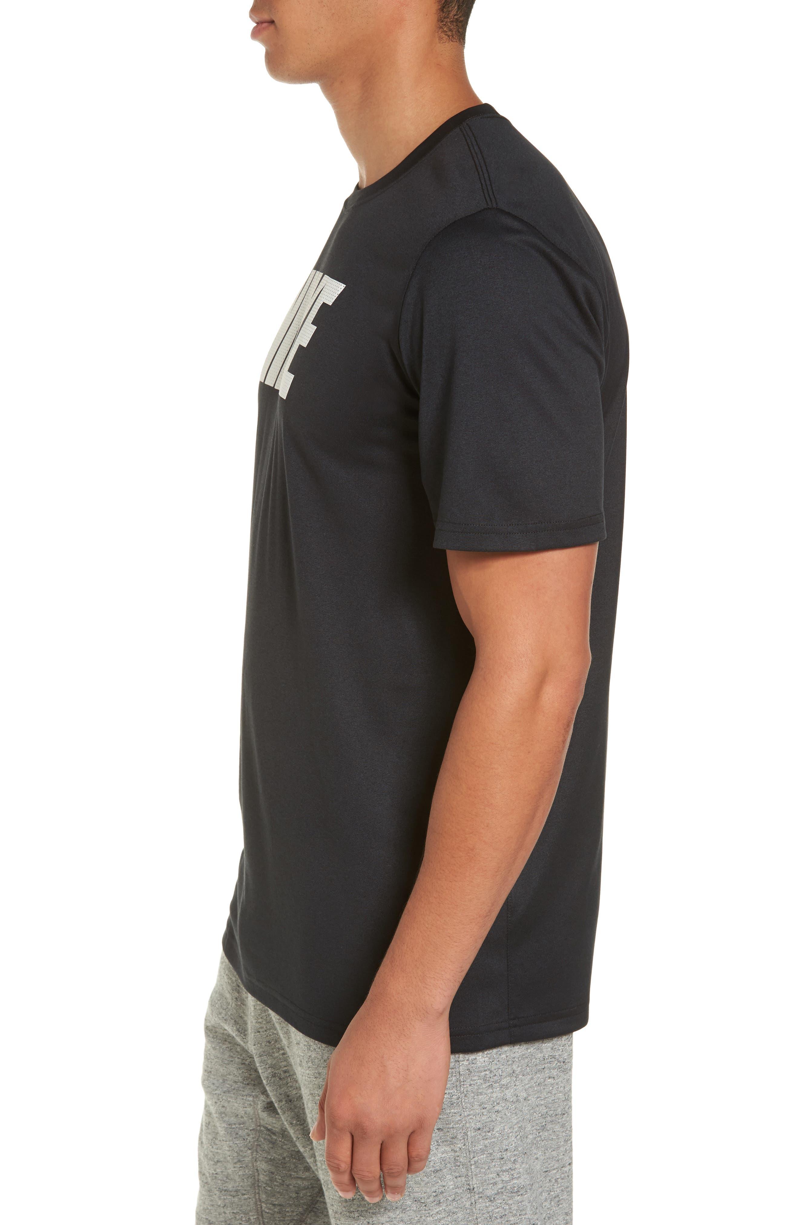 Dry Legend Training T-Shirt,                             Alternate thumbnail 3, color,                             Black