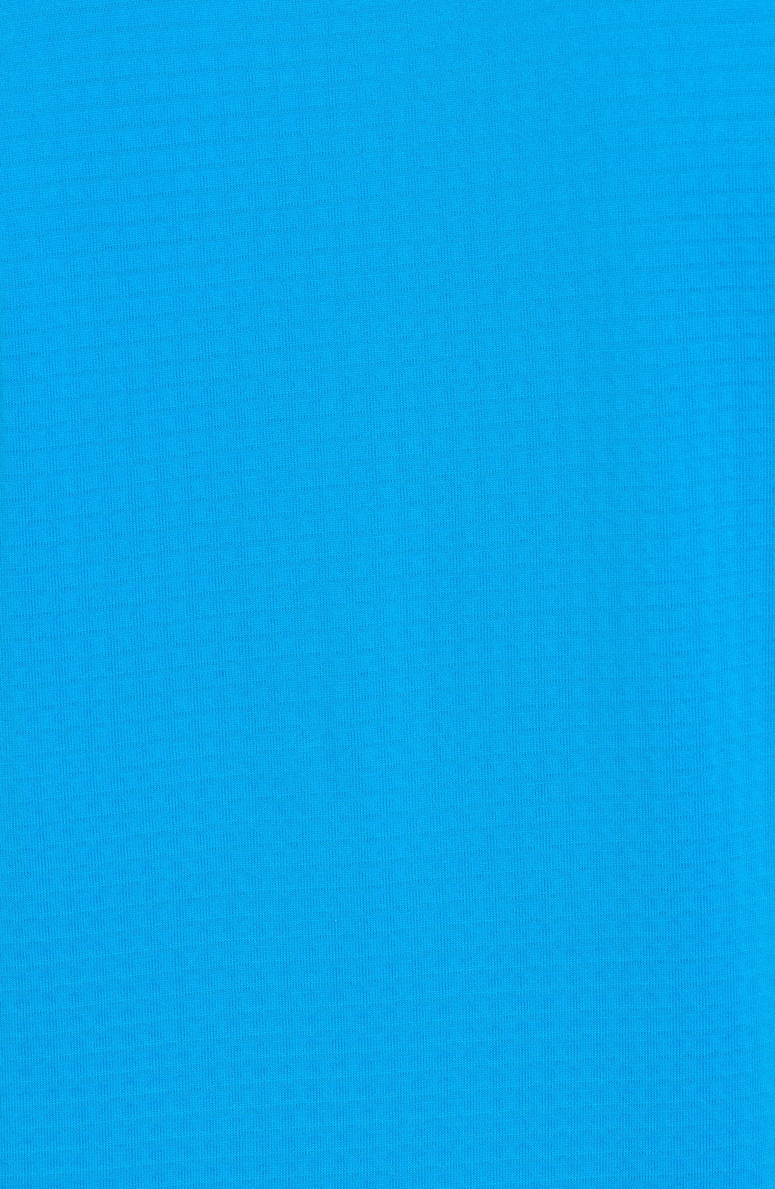 ThermaSphere Long Sleeve Running T-Shirt,                             Alternate thumbnail 4, color,                             Binary Blue/ Purple/ Heather