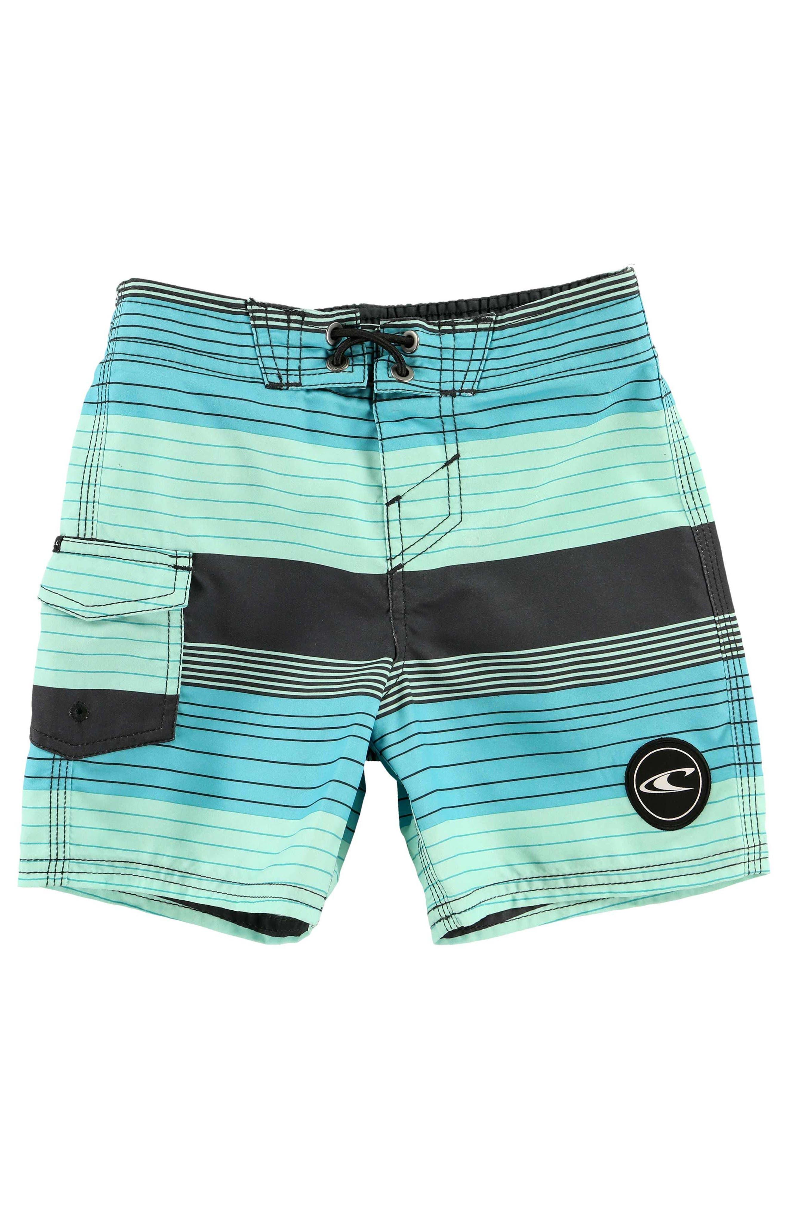 Santa Cruz Stripe Board Shorts,                         Main,                         color, Aqua