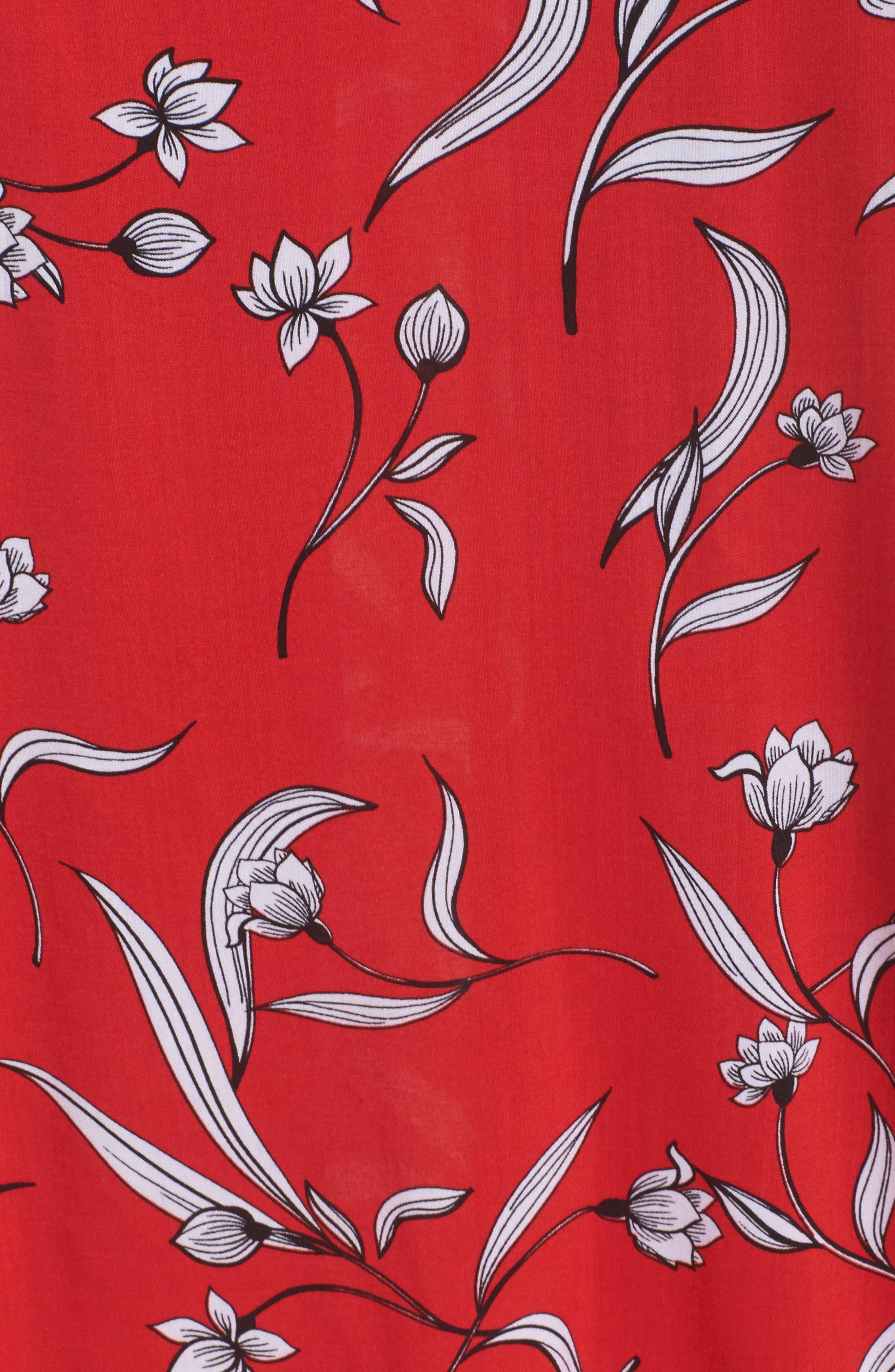 Amelia Floral Dress,                             Alternate thumbnail 5, color,                             Floral Print