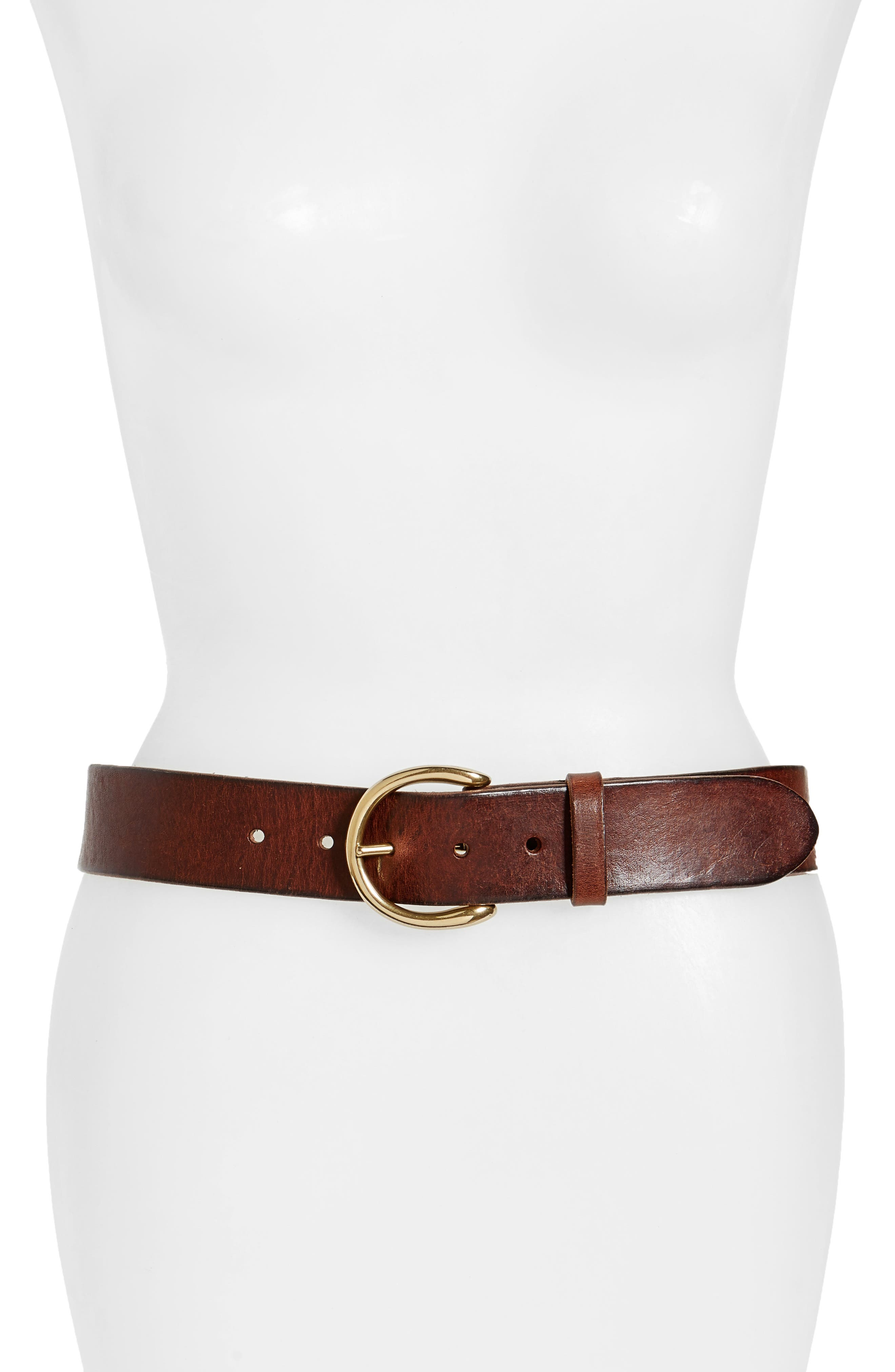 Campus Leather Belt,                             Main thumbnail 1, color,                             Dark Brown