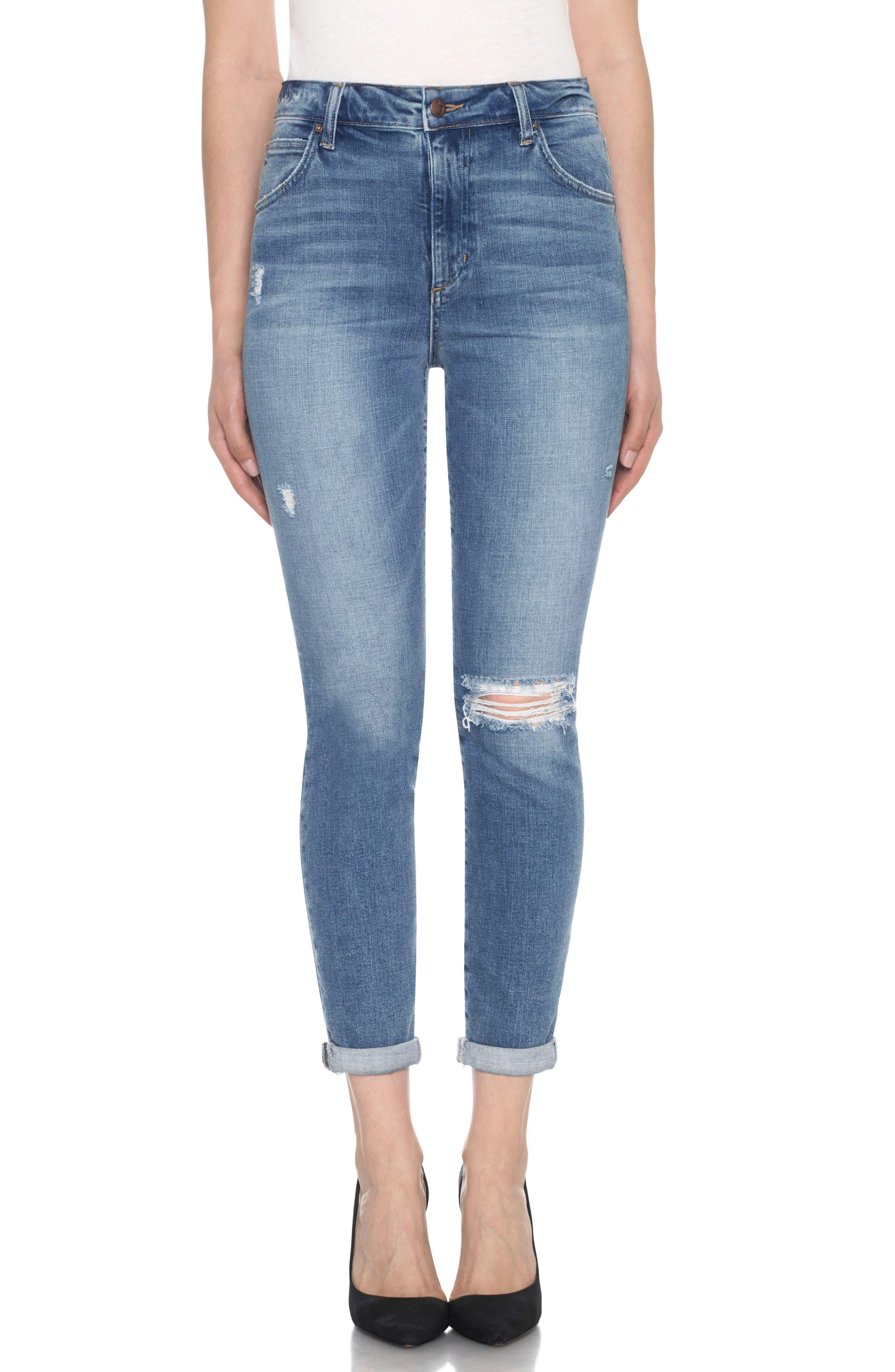 Bella High Waist Crop Skinny Jeans,                         Main,                         color, Mailou