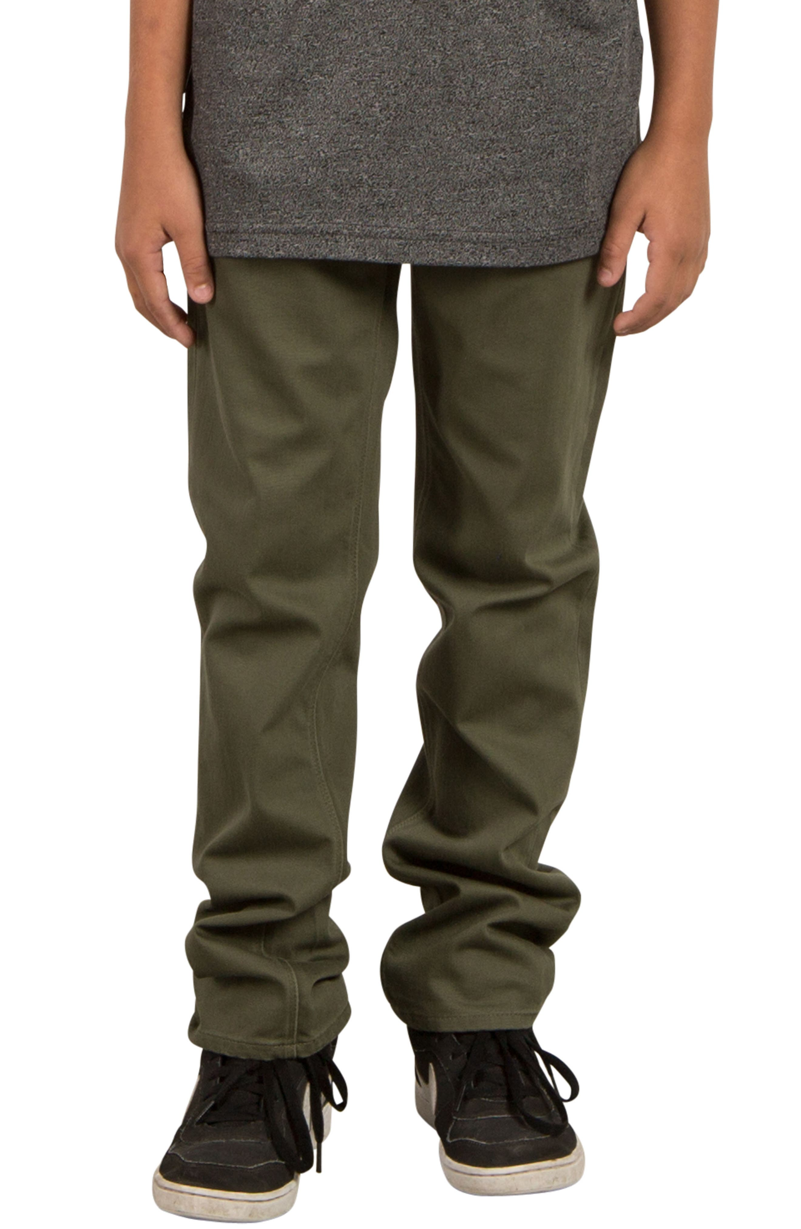 Volcom Vorta Slim Fit Chinos (Big Boys)