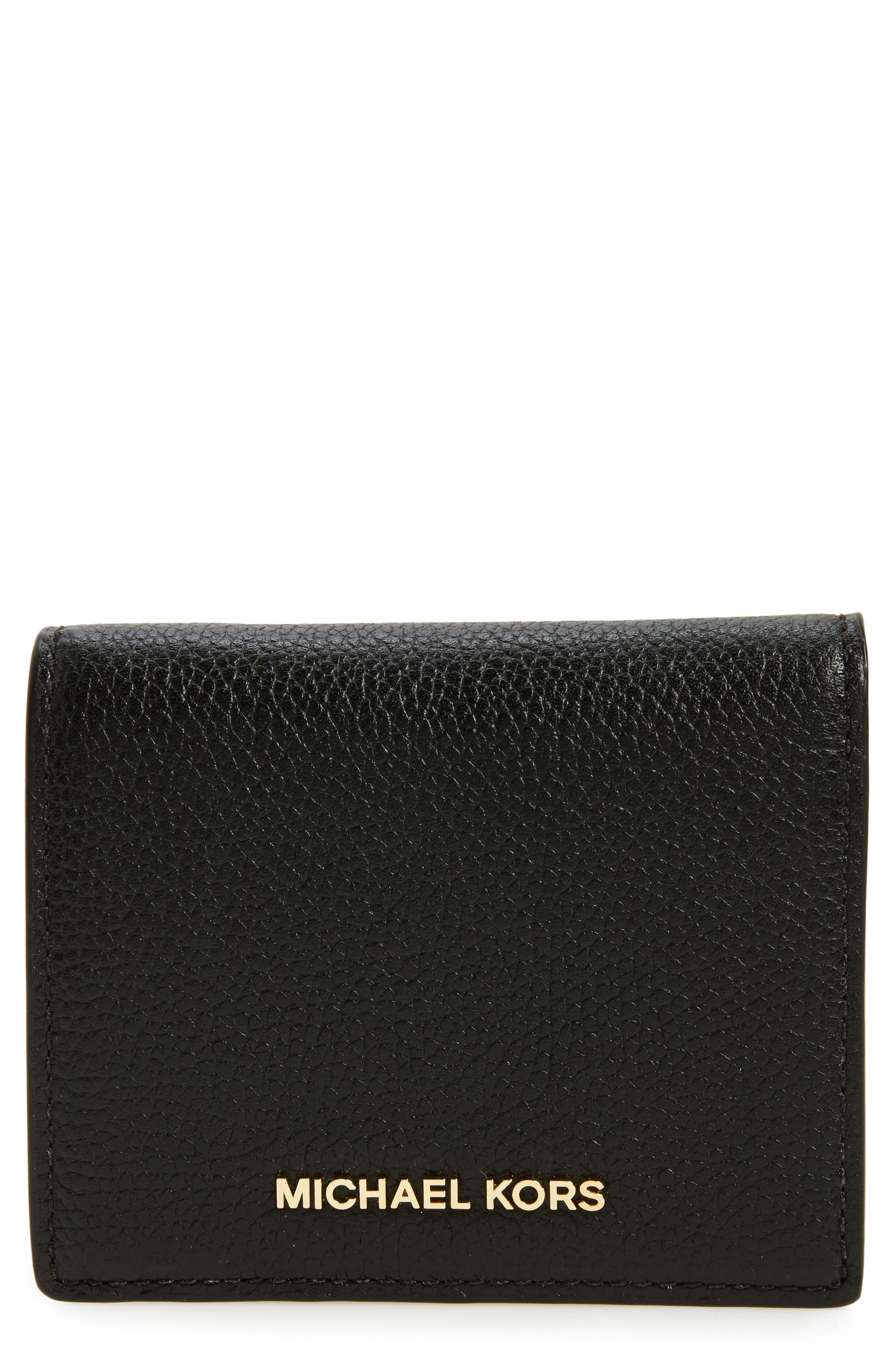 Alternate Image 1 Selected - MICHAEL Michael Kors Mercer Leather RFID Card Holder