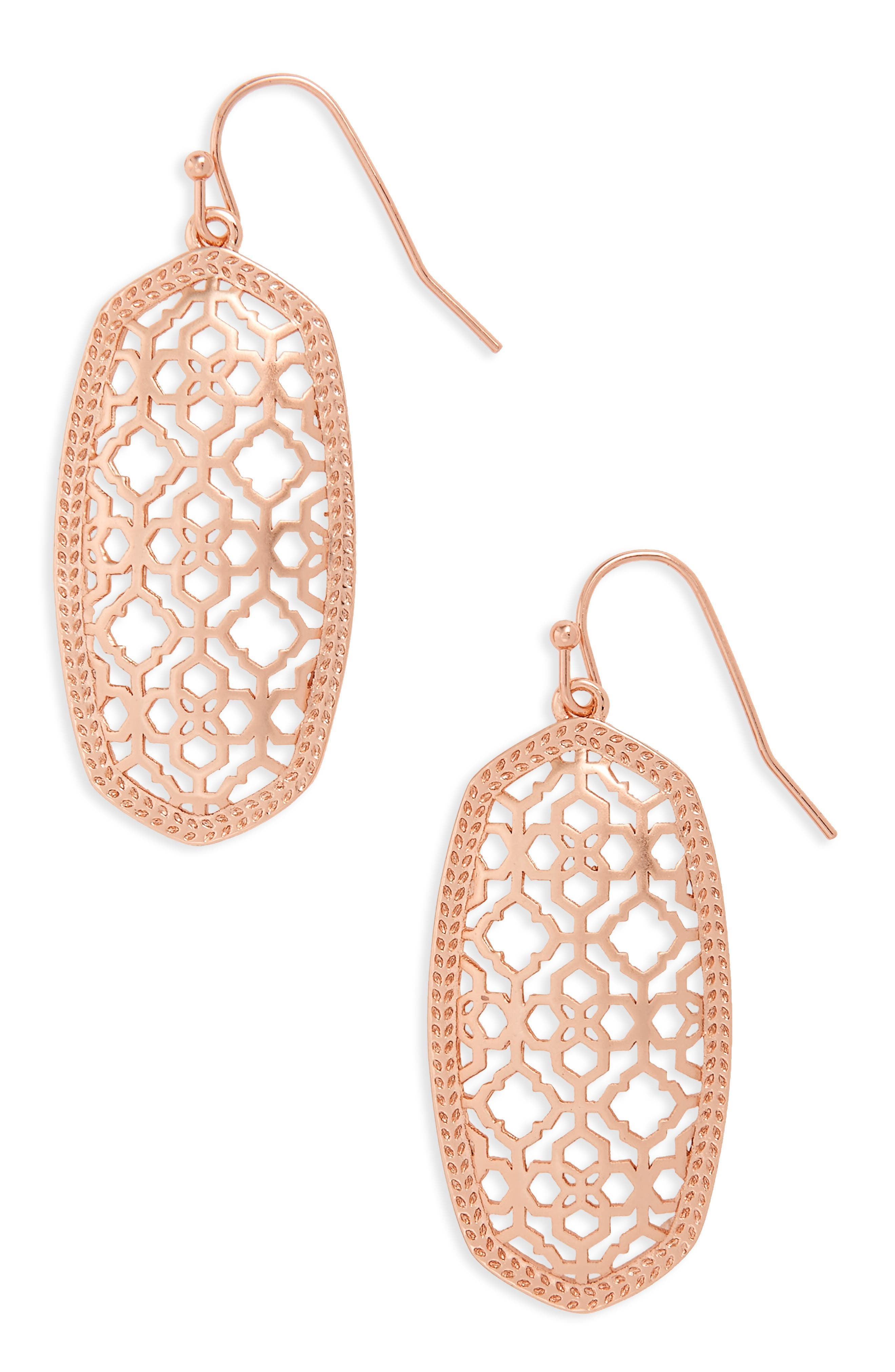 Alternate Image 1 Selected - Kendra Scott Elle Filigree Drop Earrings
