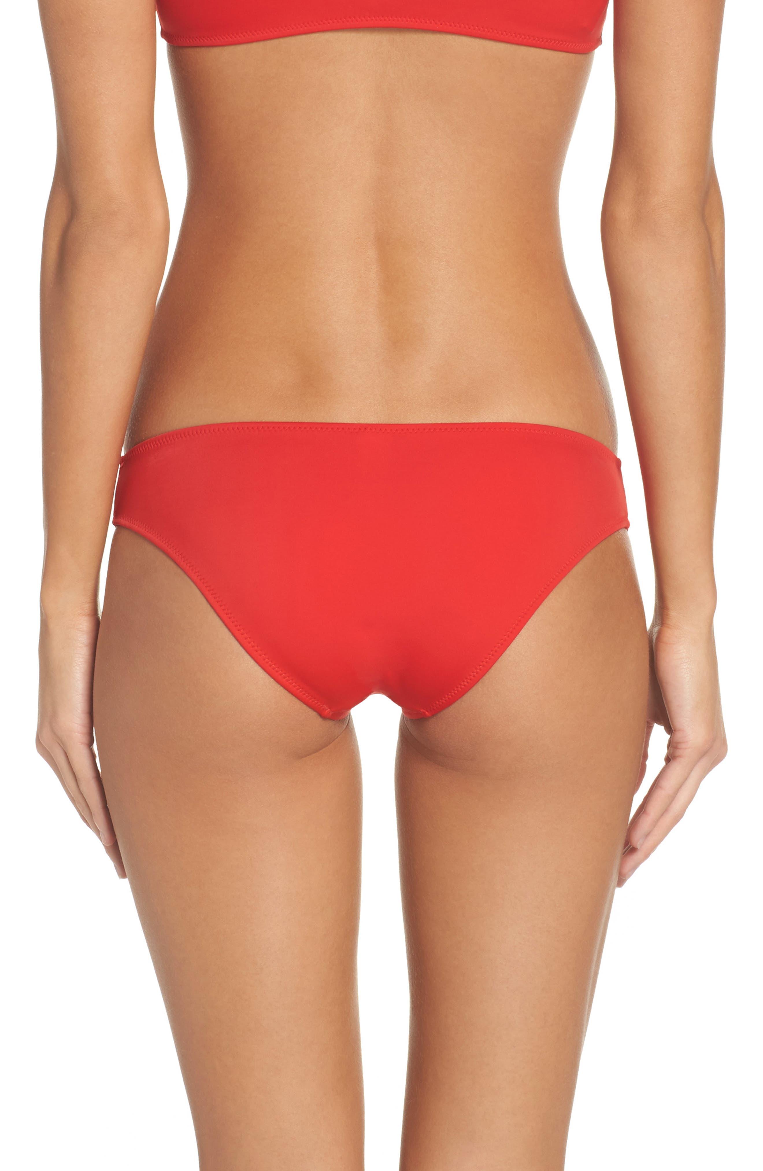 Elle Bikini Bottoms,                         Main,                         color, Cherry