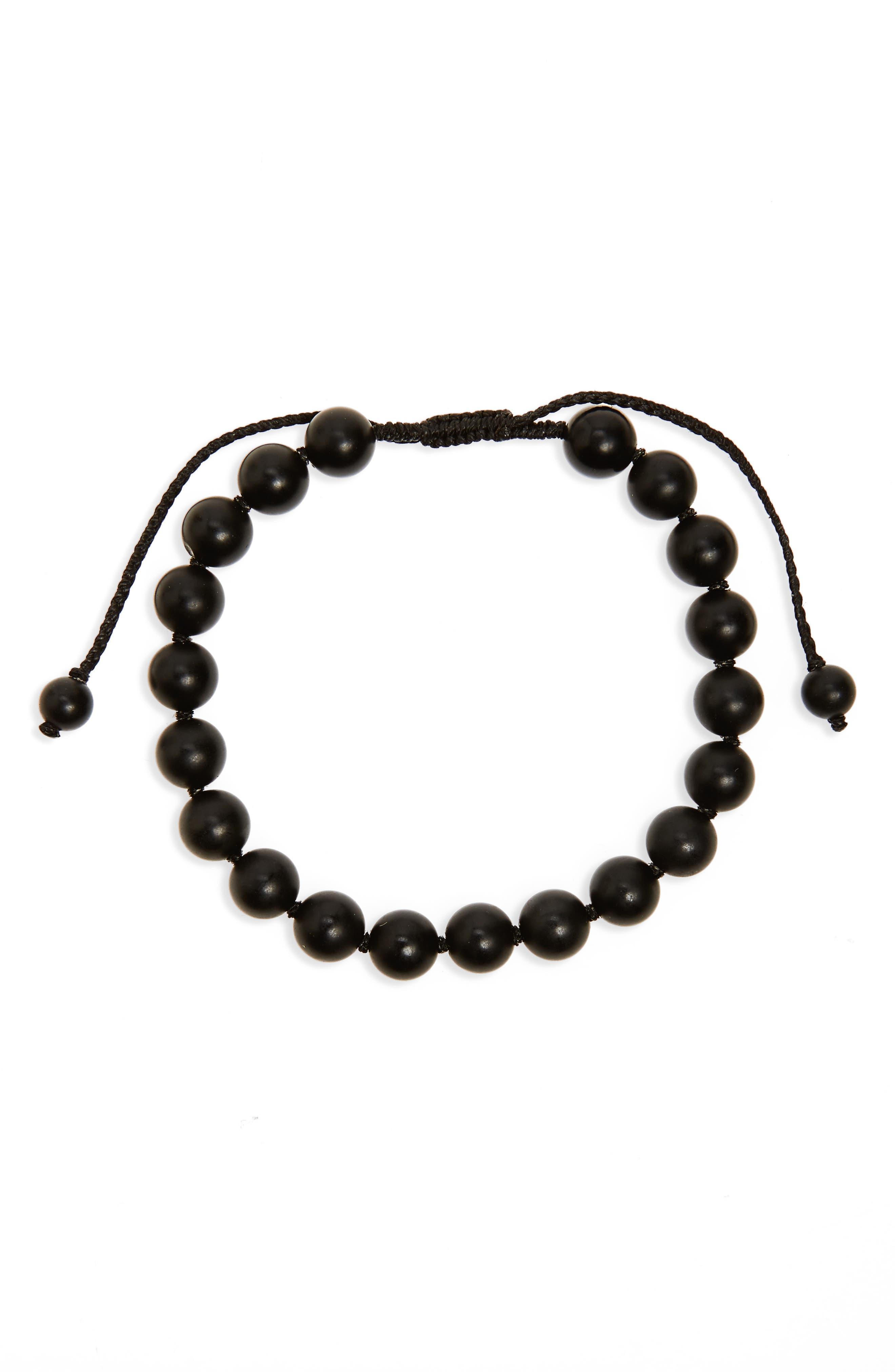 LINK UP Onyx Bead Bracelet