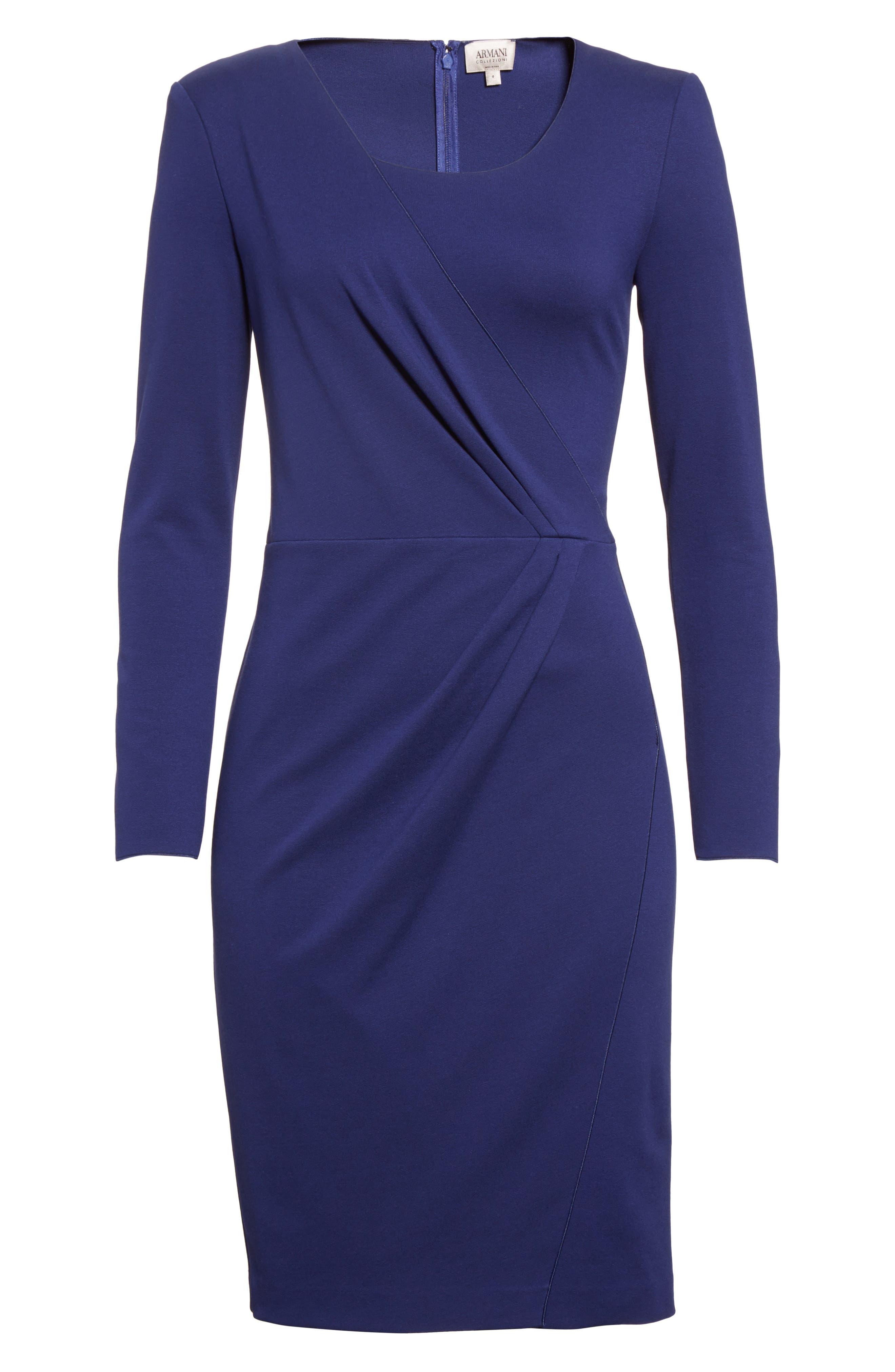 Alternate Image 4  - Armani Collezioni Side Gather Milano Jersey Dress