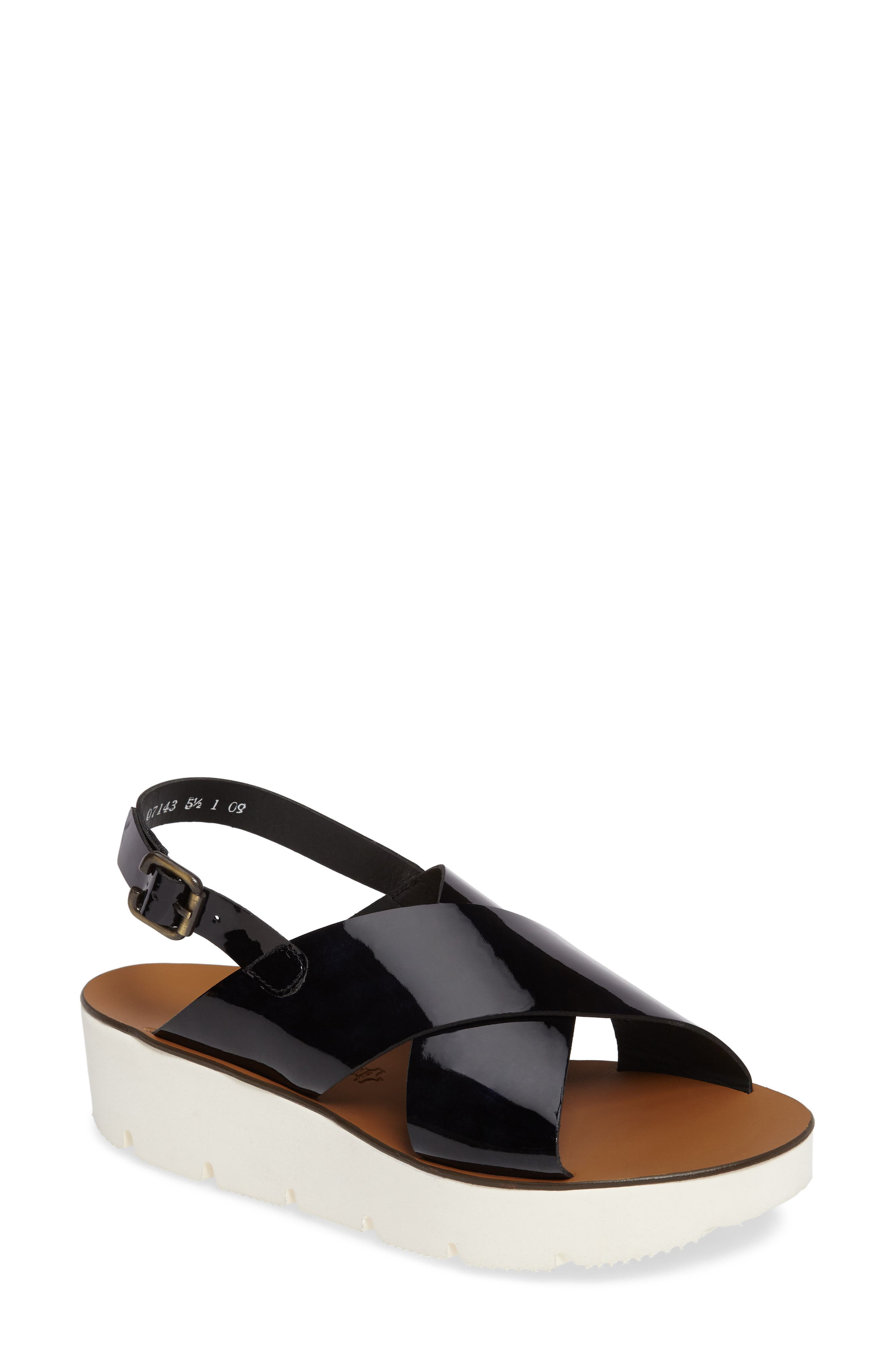 PAUL GREEN Nico Cross Strap Platform Sandal