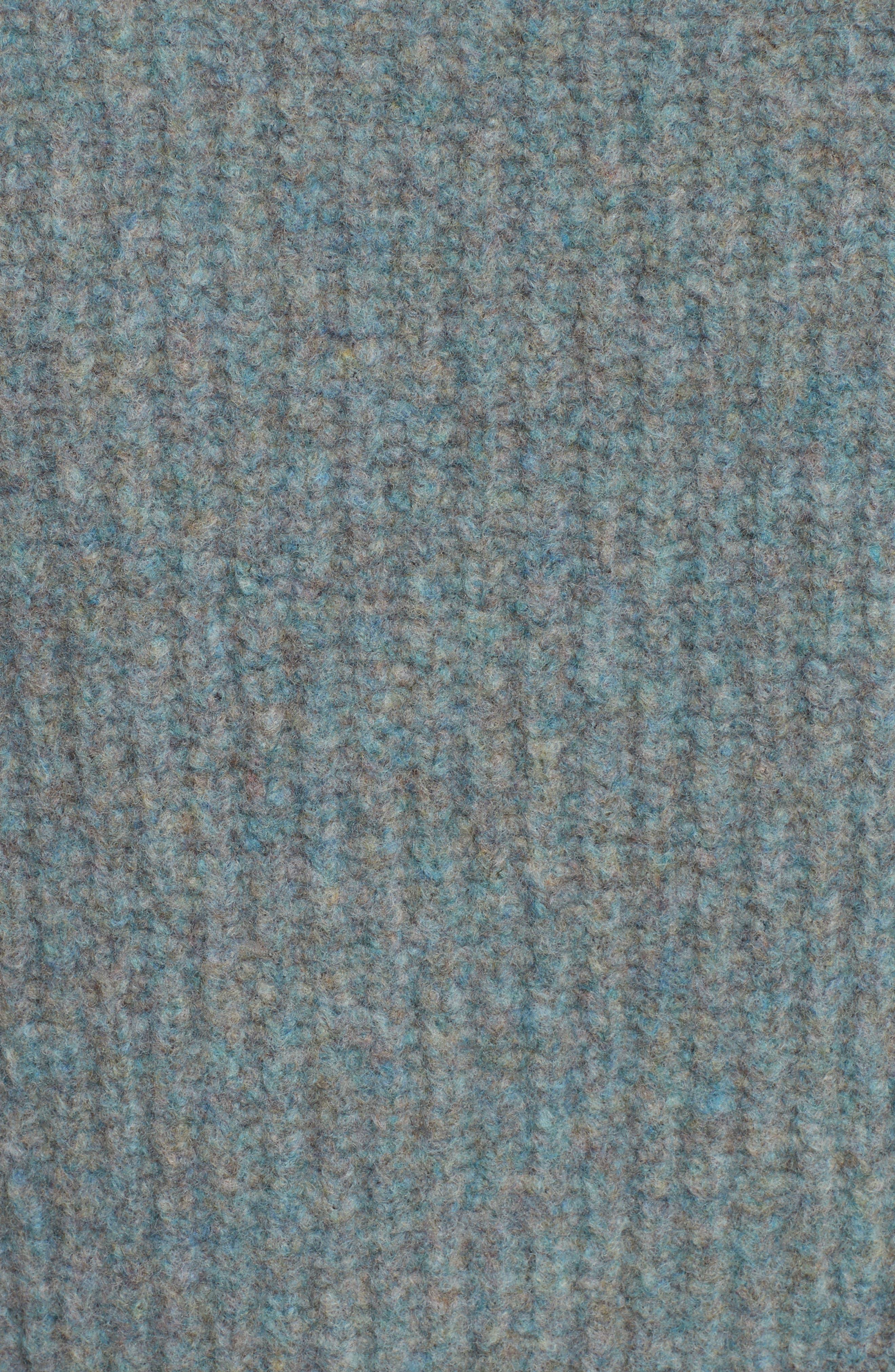 Francie Merino Wool Blend Sweater,                             Alternate thumbnail 5, color,                             Teal