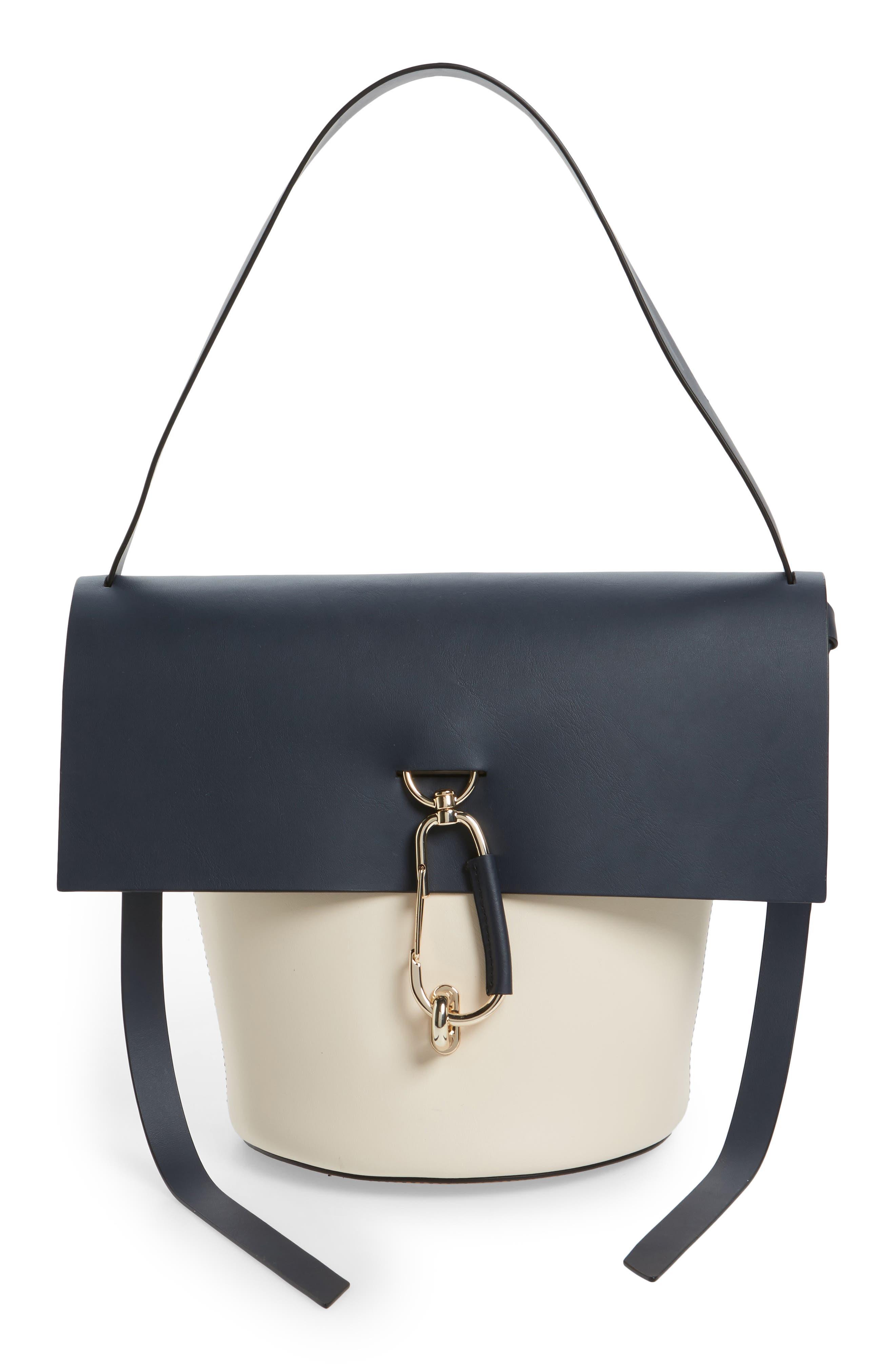 ZAC Zac Posen Belay Colorblock Leather Bucket Bag
